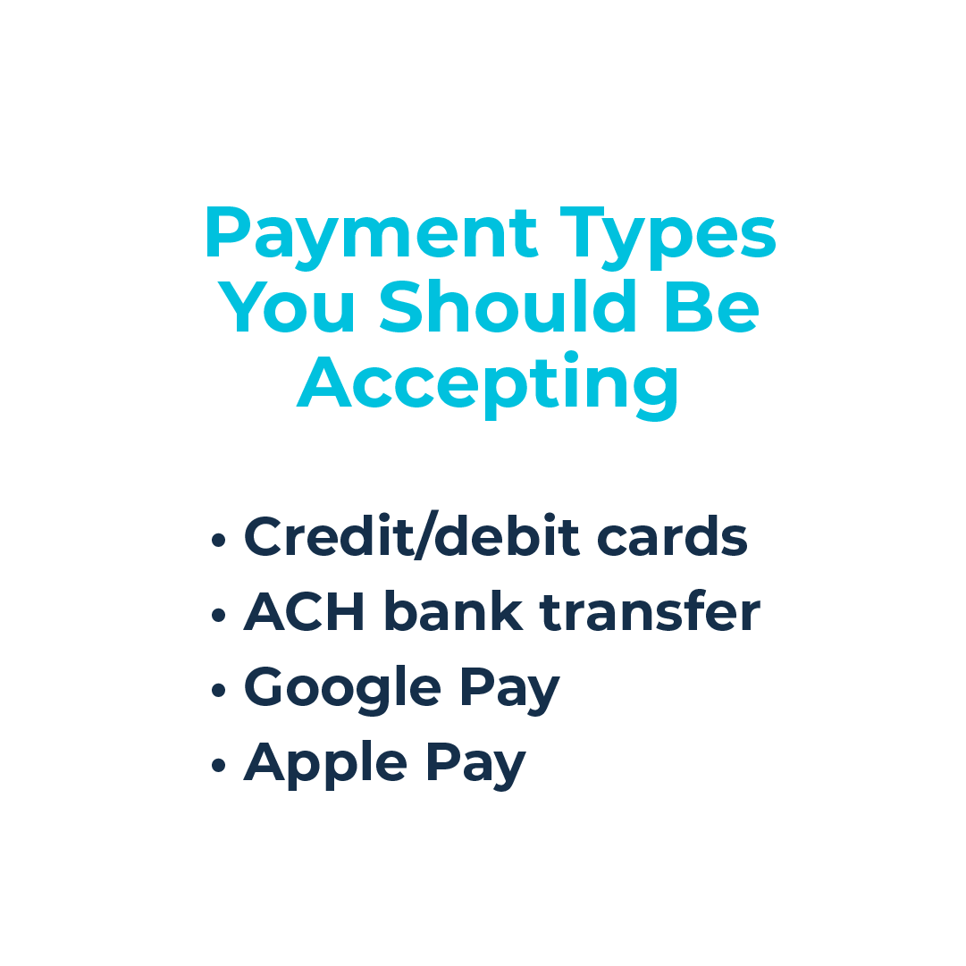 payment types to accept