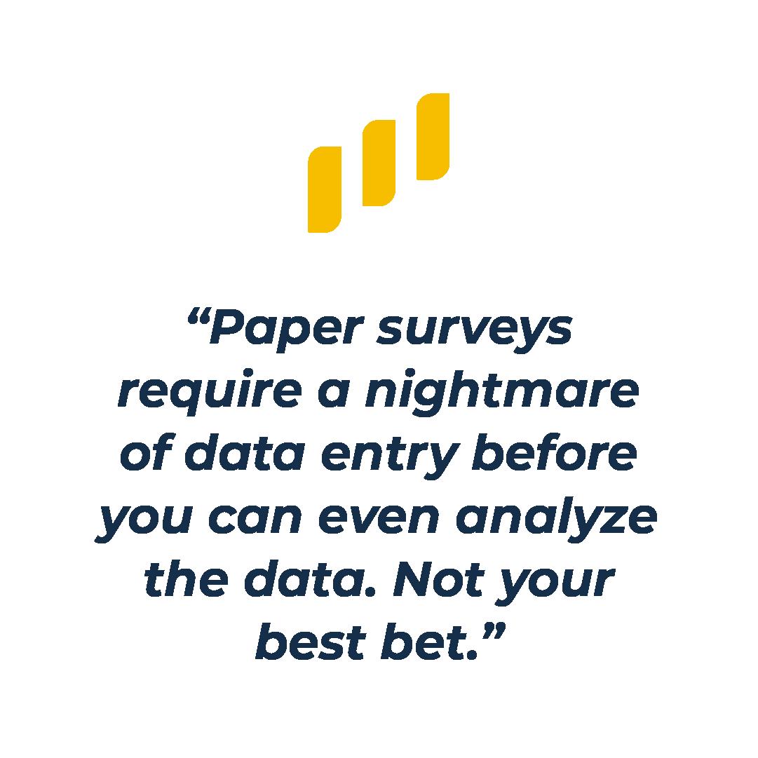 Paper surveys are no good