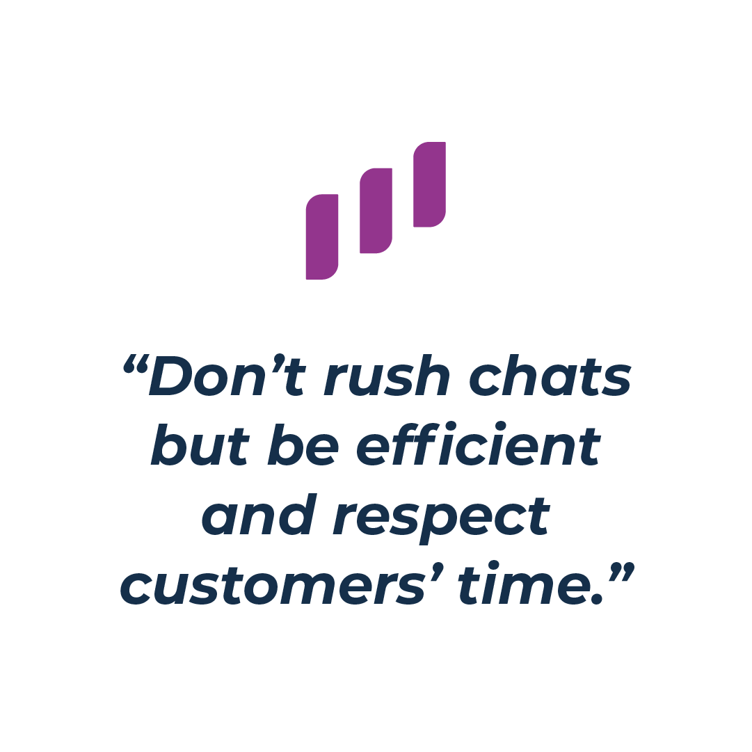 Respecting customers' time