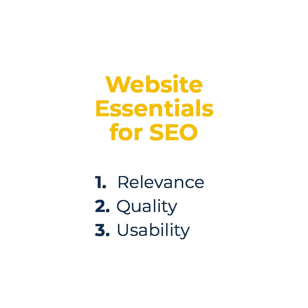 Website essentials for SEO