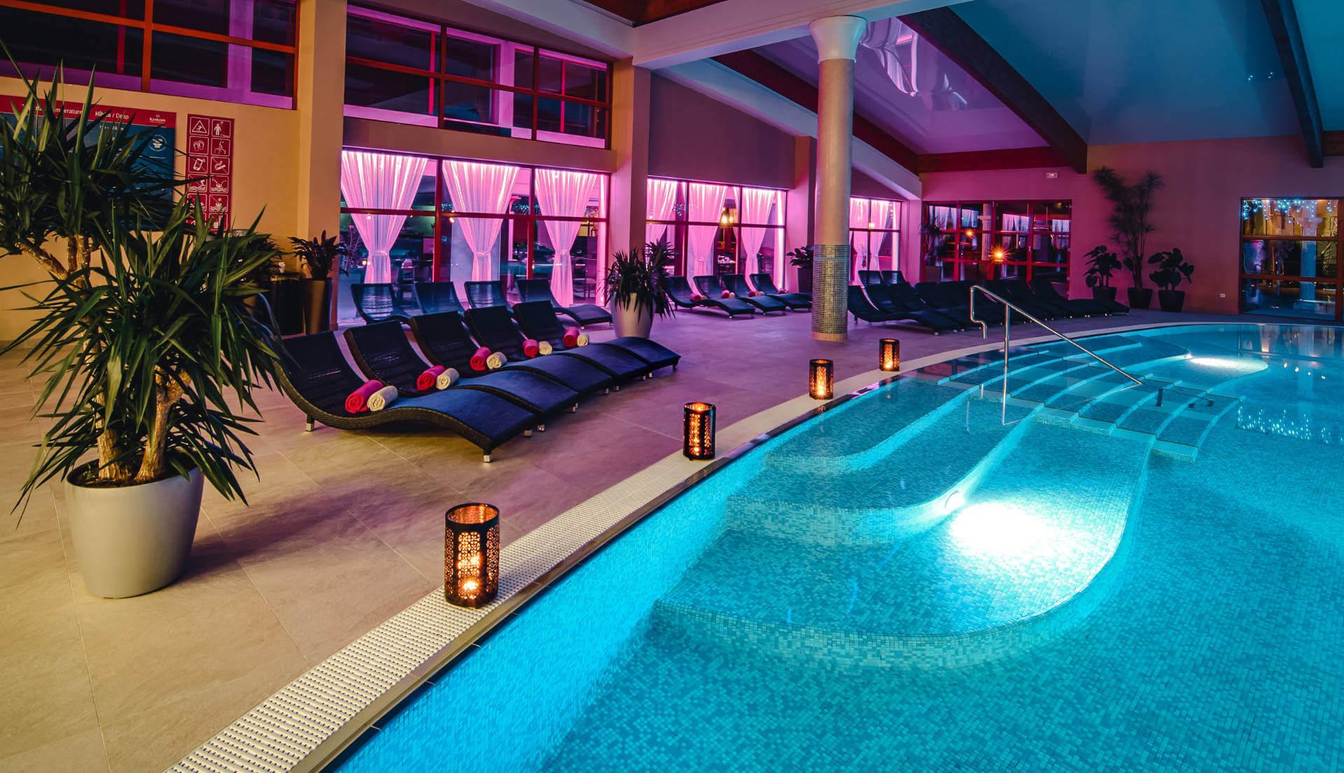 Vnútorný bazén v resorte Kaskady