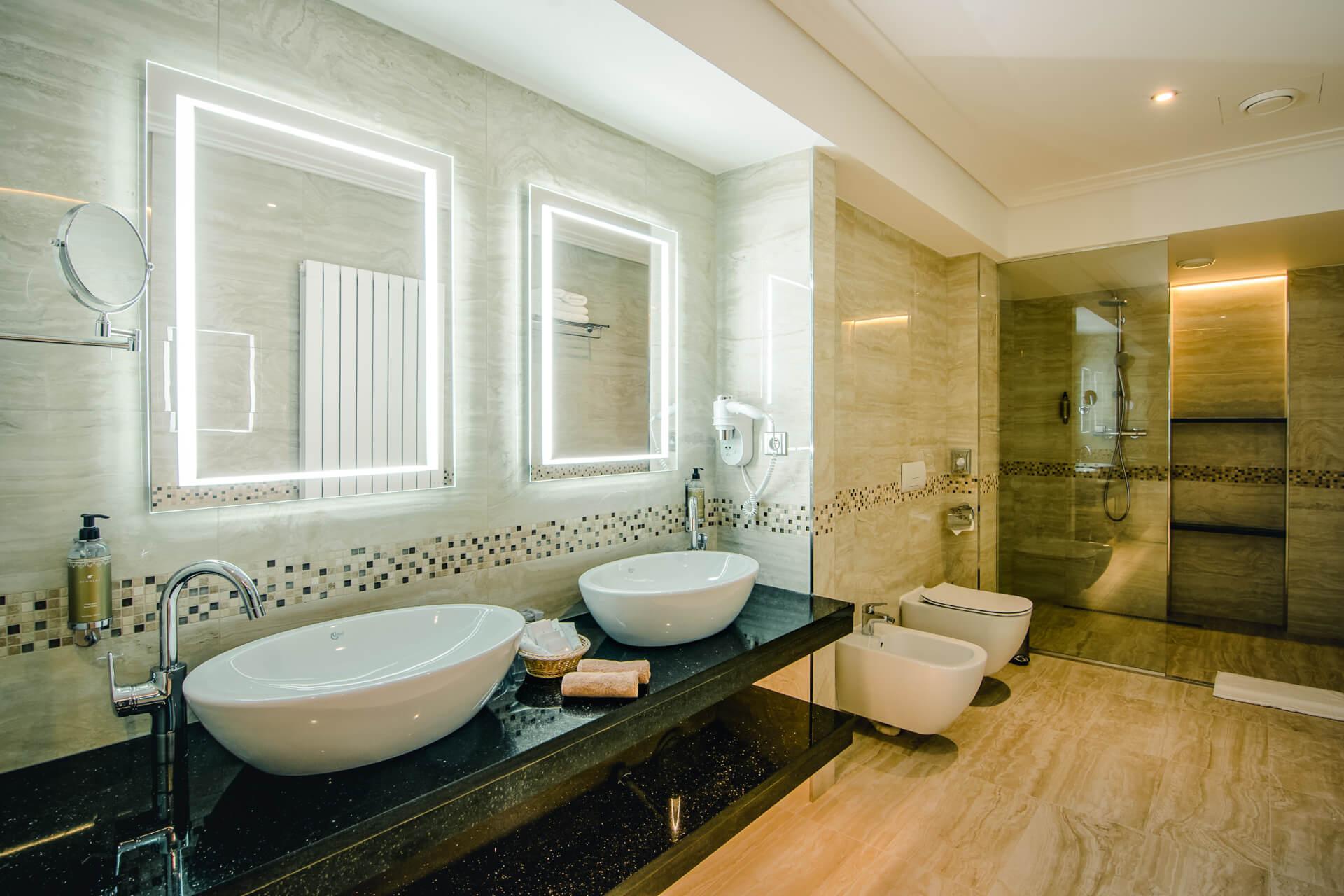Ubytovanie v resorte Kaskady - kúpeľňa
