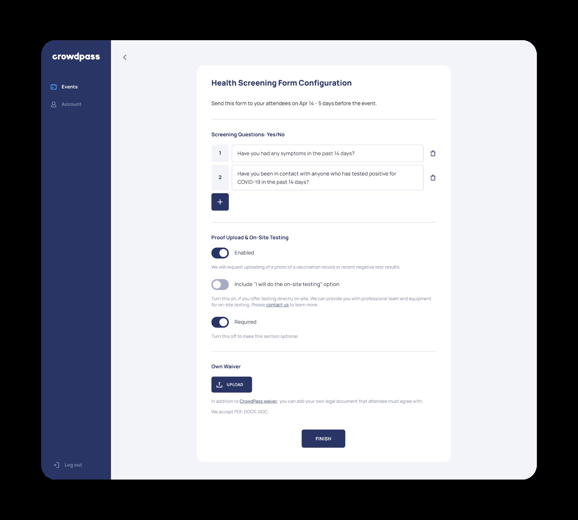Admin Feature 2- Create Organization Profile