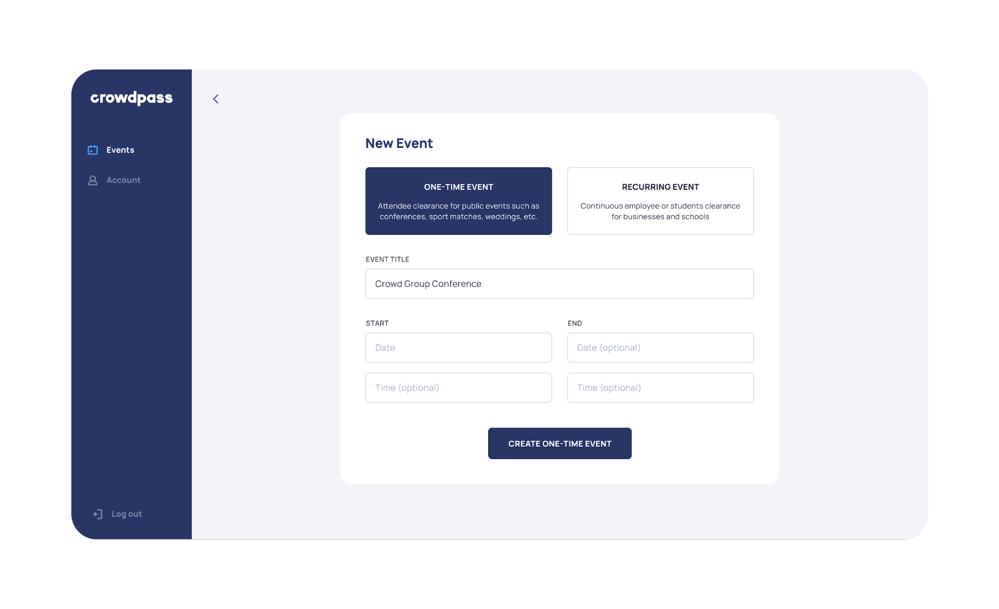 Admin Feature 3 - Create Event