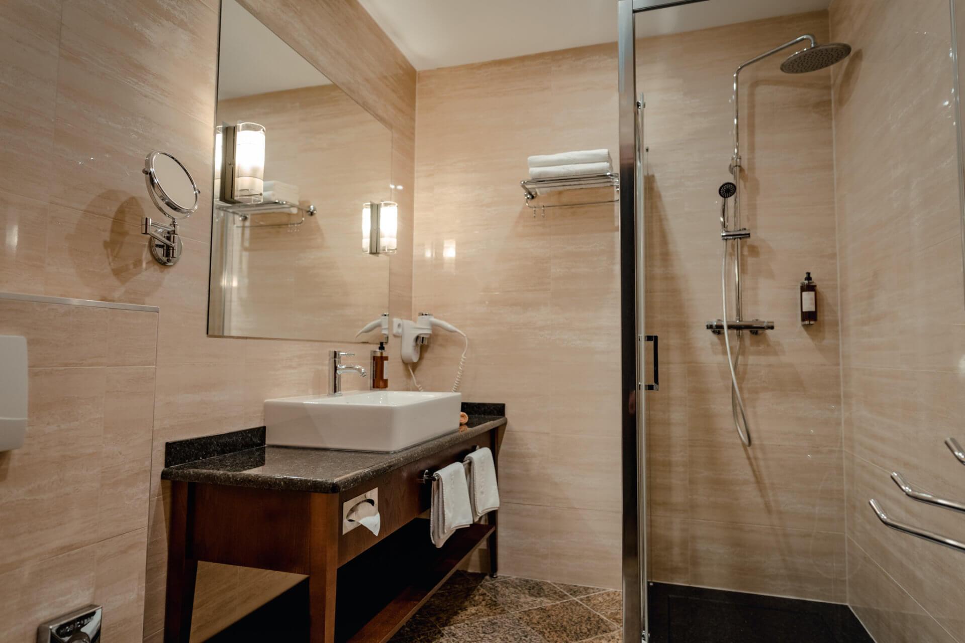 Suita (apartmán) v resorte Kaskady - kúpeľňa
