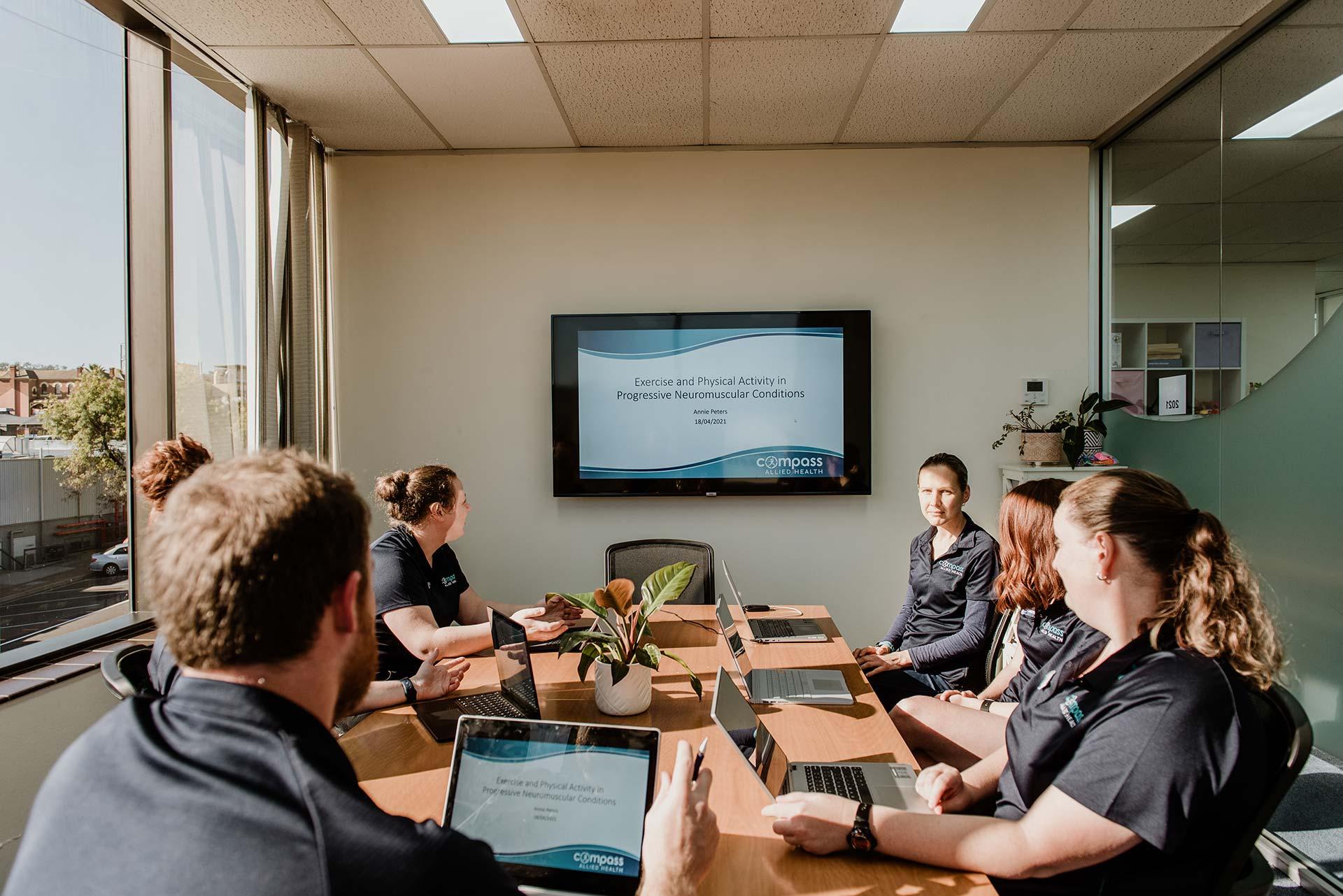 Compass Allied Health team meeting