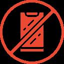 mobile phone stop calls icon