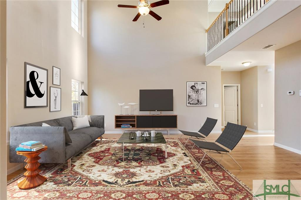 Living/Family Room with Virtual Staging