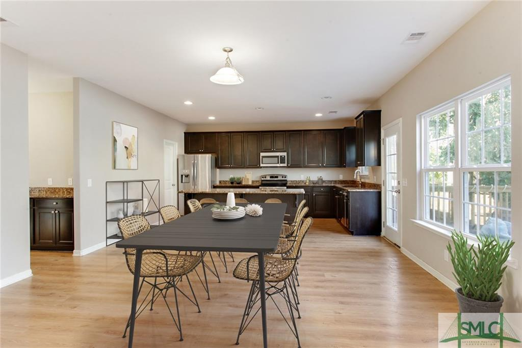 Kitchen/Dining Area with Virtual Staging