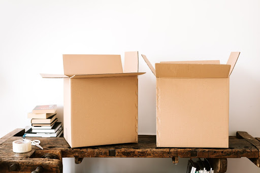 Apartment moving boxes