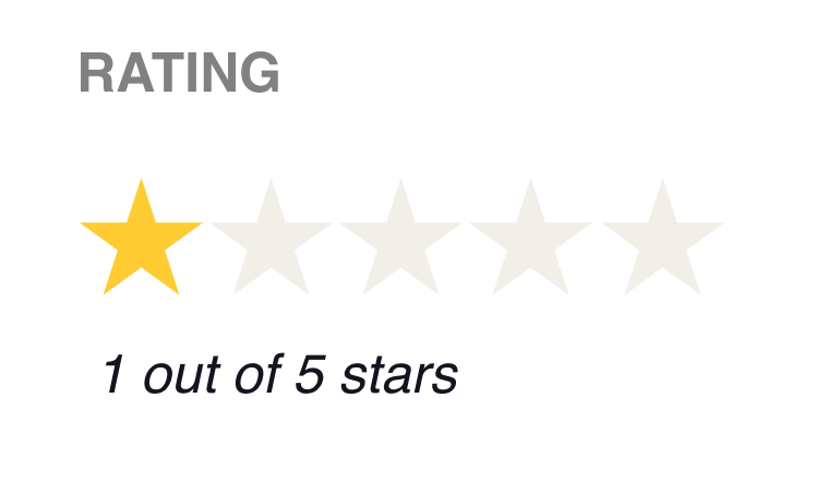 Mirror one star rating