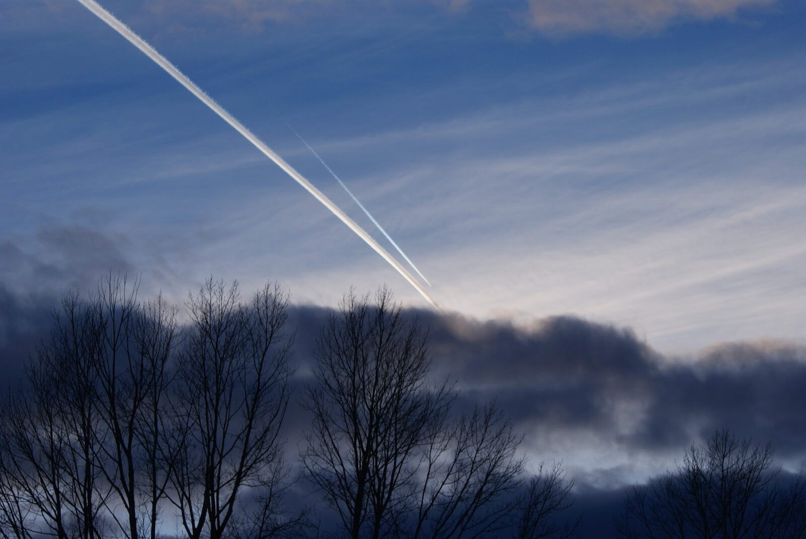 Air Force One Contrail Over Skinwalker Ranch