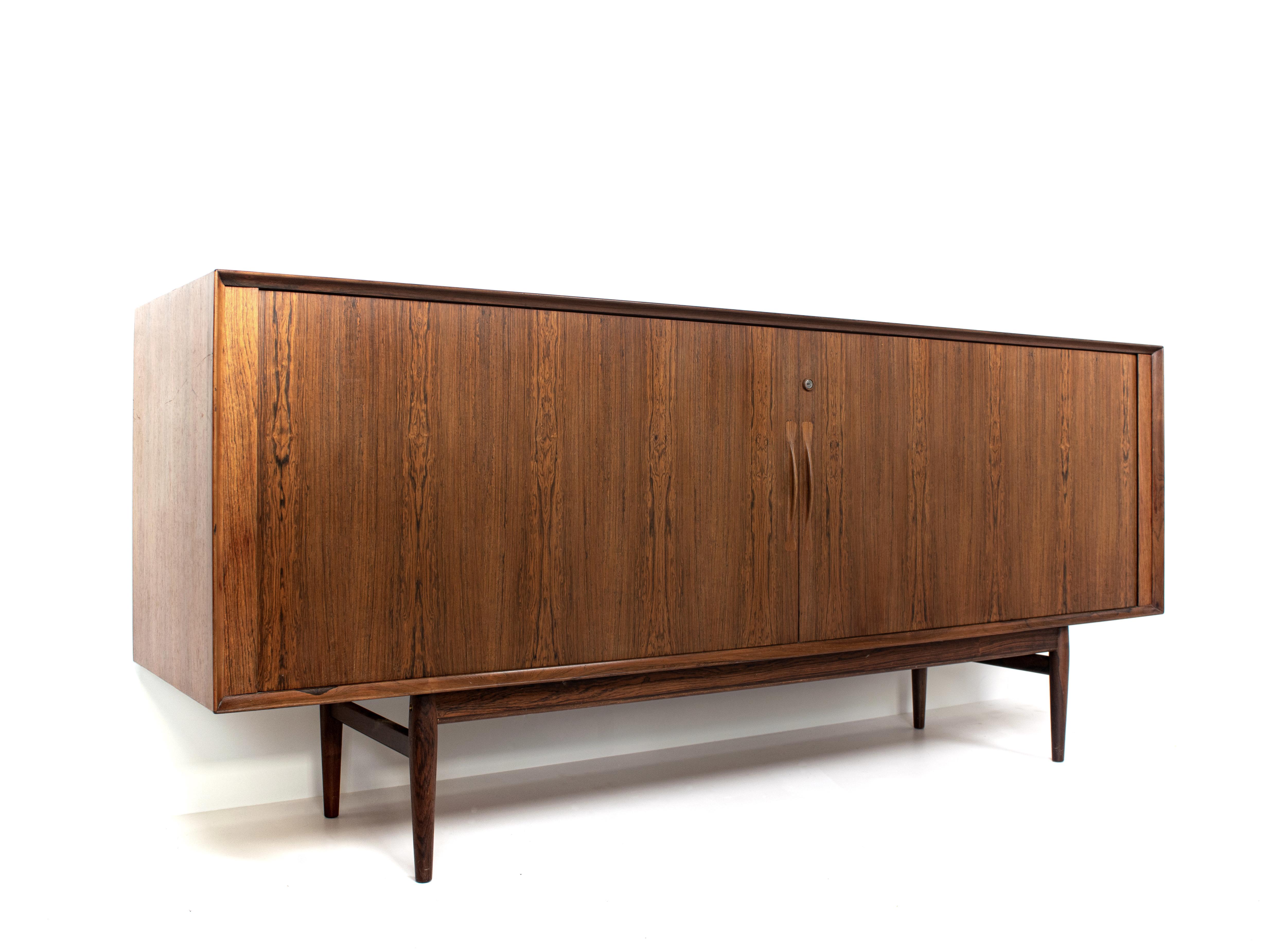 Arne Vodder Tambour Sideboard in Rosewood for Sibast Møbler, Denmark 1960s