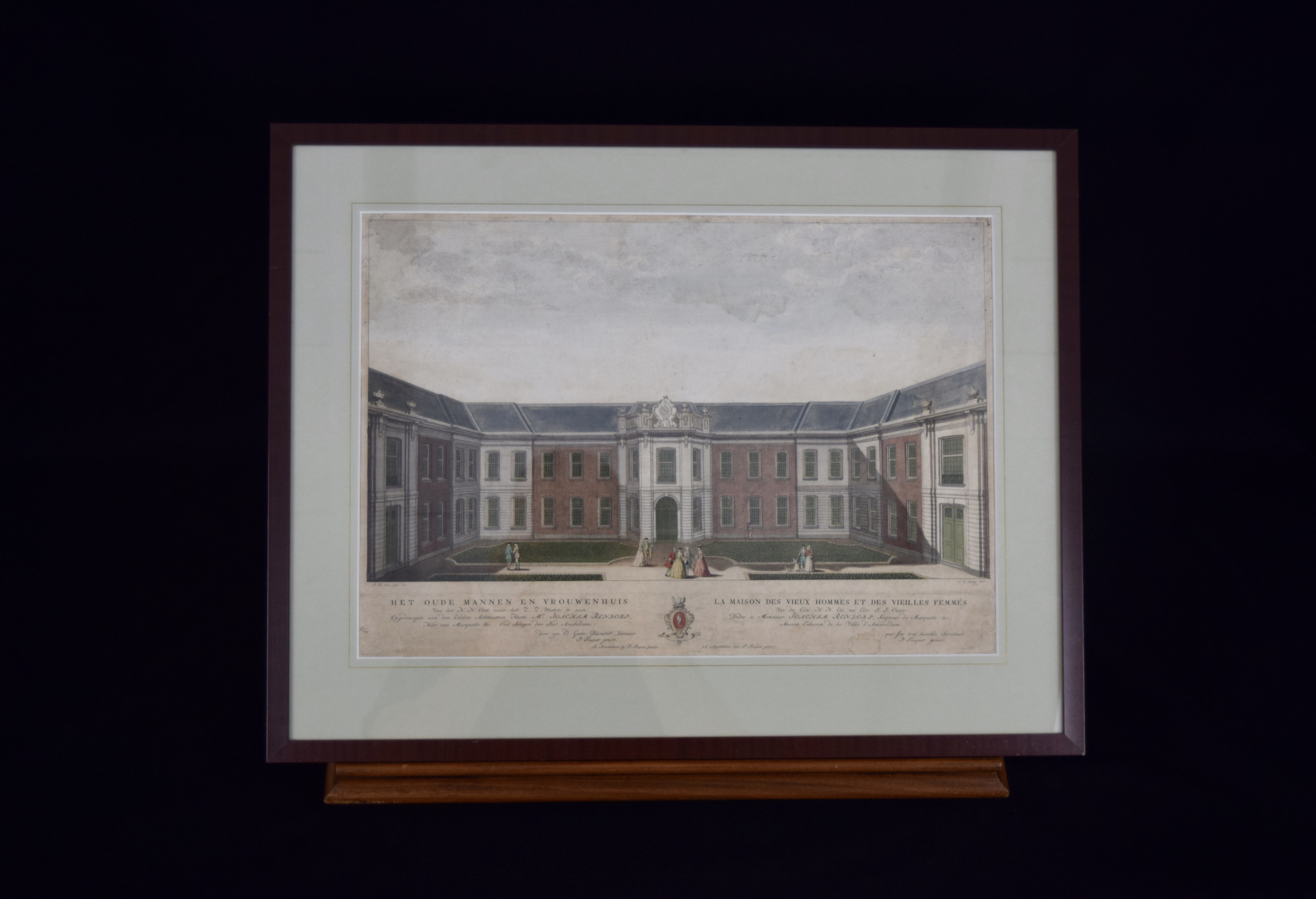 Original copper plate print from the famous Atlas about Amsterdam by Fouquet Jr