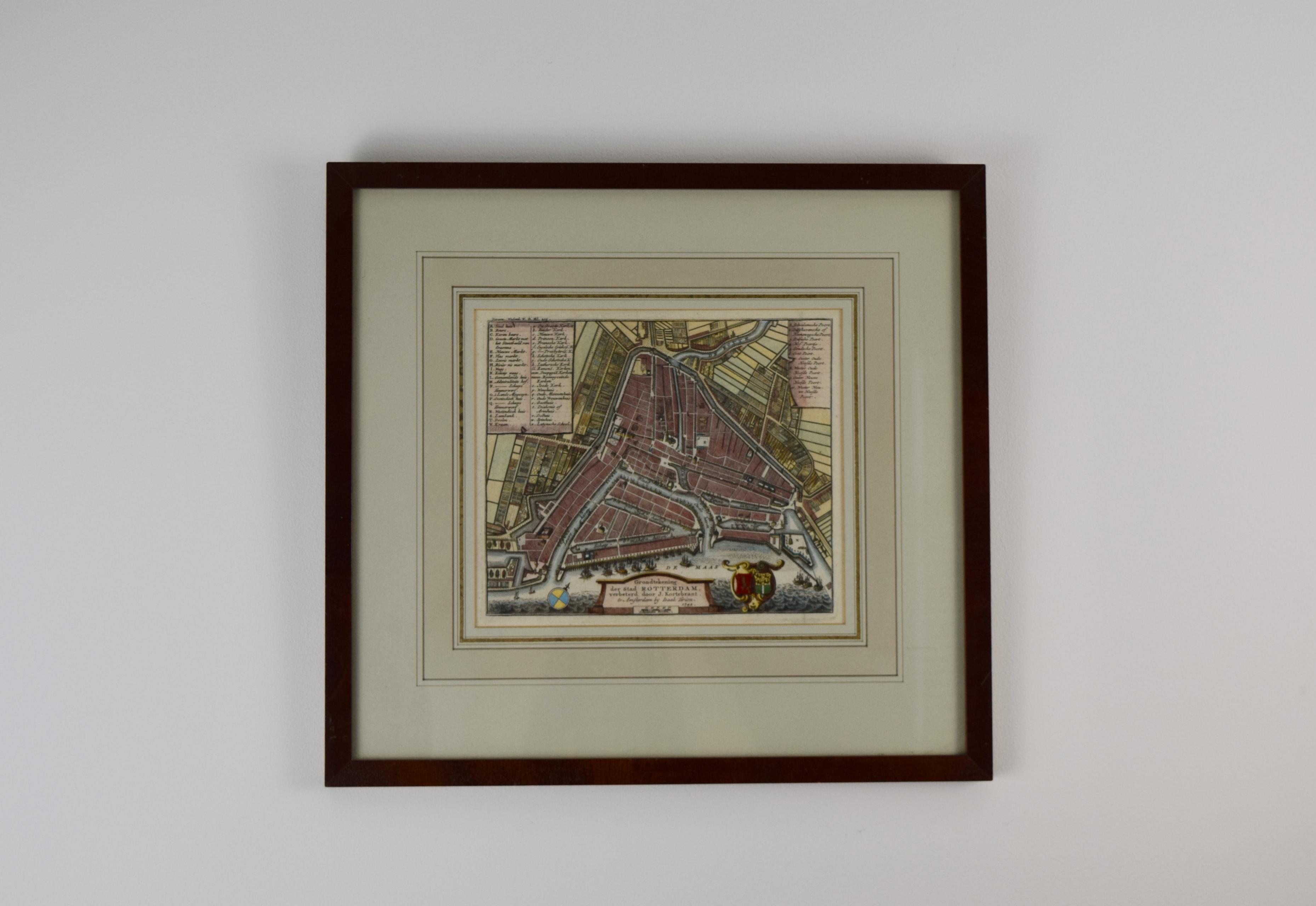 Map of Rotterdam - Isaac Tirion