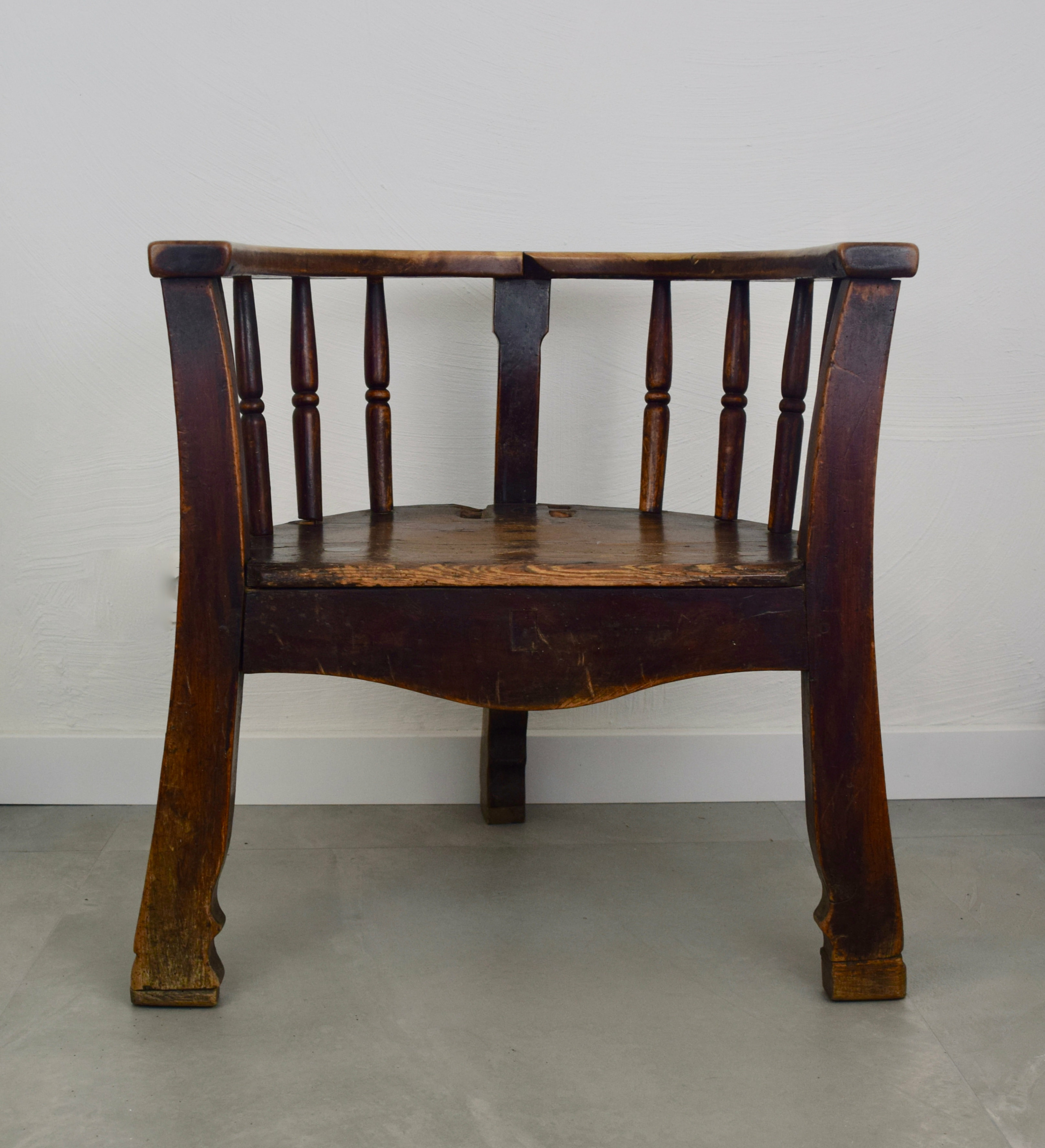 Wooden Captain's Chair, 17th Century, the Netherlands