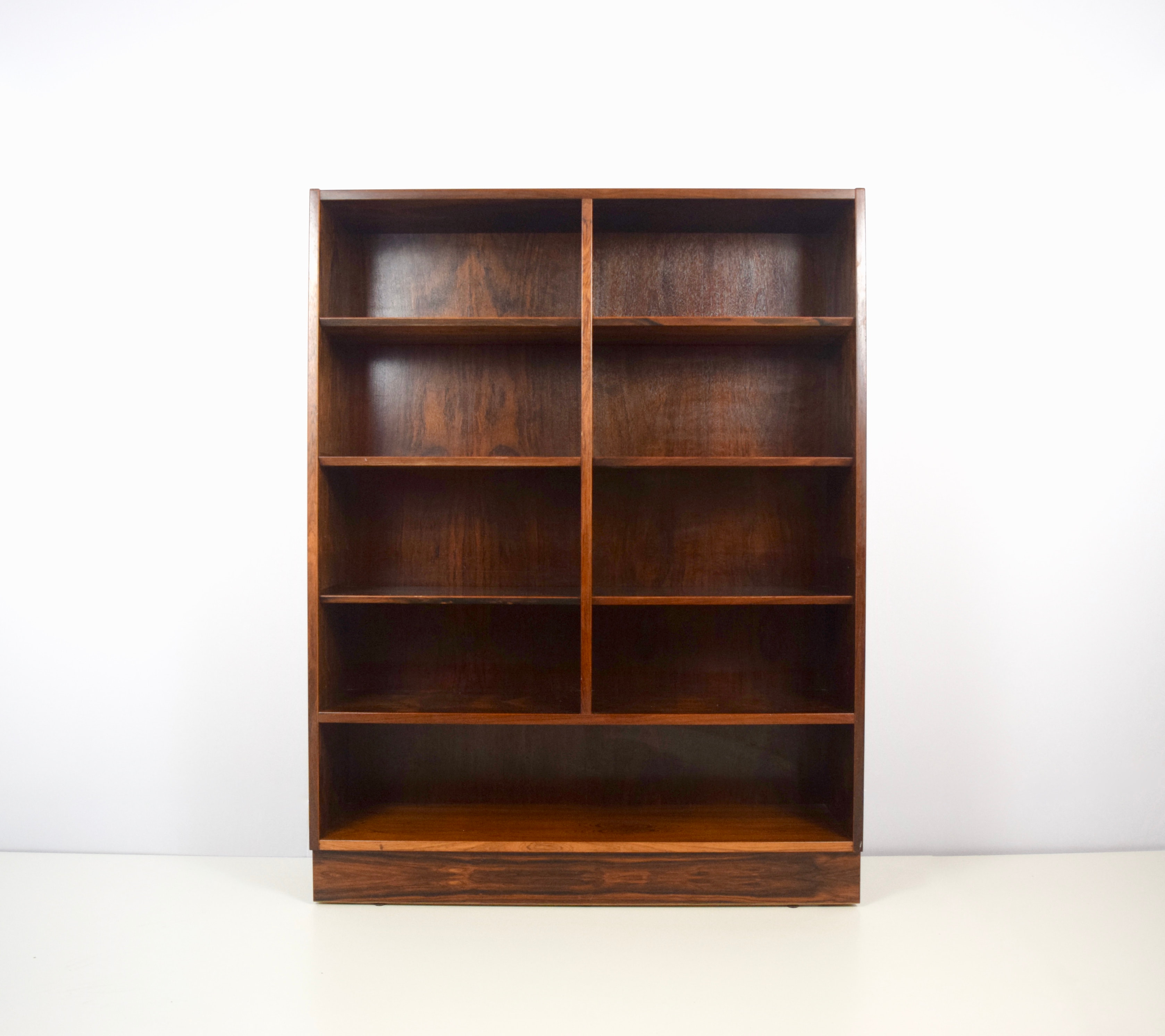Modern Rosewood Double Bookcase by Poul Hundevad, Denmark, 1960's