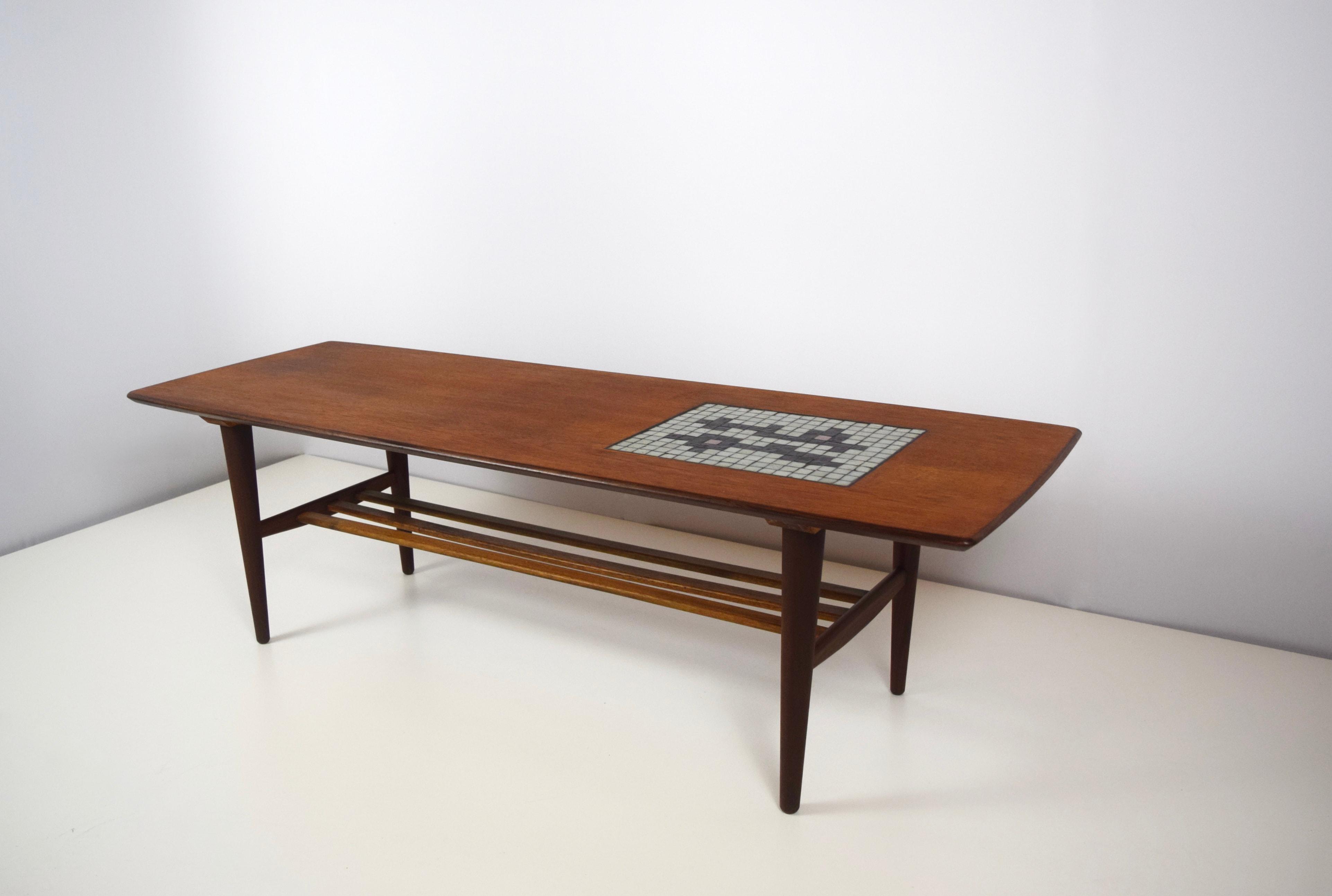 Coffee Table by Louis Van Teeffelen with Mosaic of Jaap Ravelli for Webe, 1950's