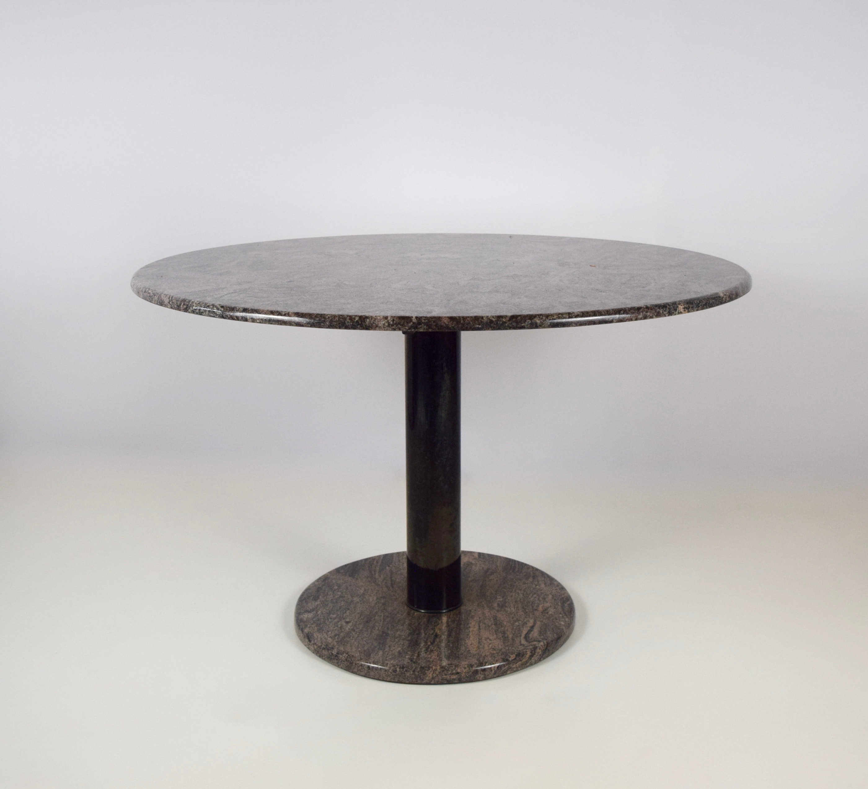 Vintage Marble Dinner Table with Rose and Grey Marble