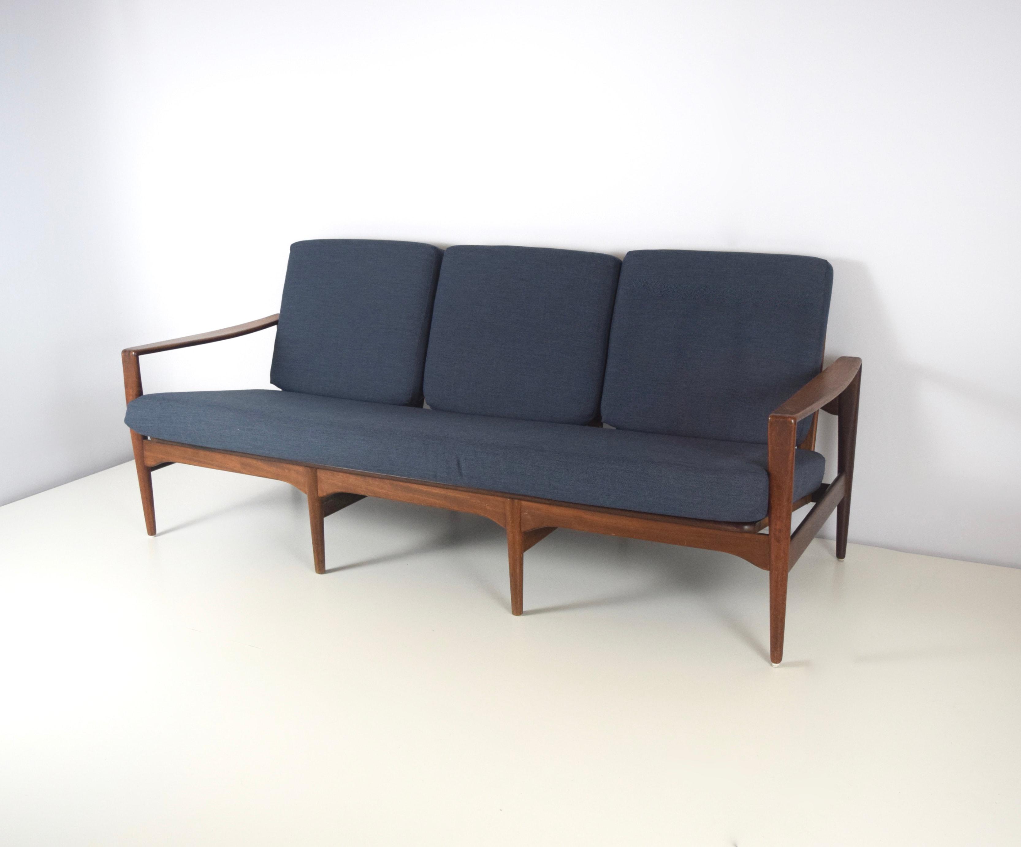 Arne Wahl Iversen Sofa for KOMFORT in Rosewood, Denmark 1950's