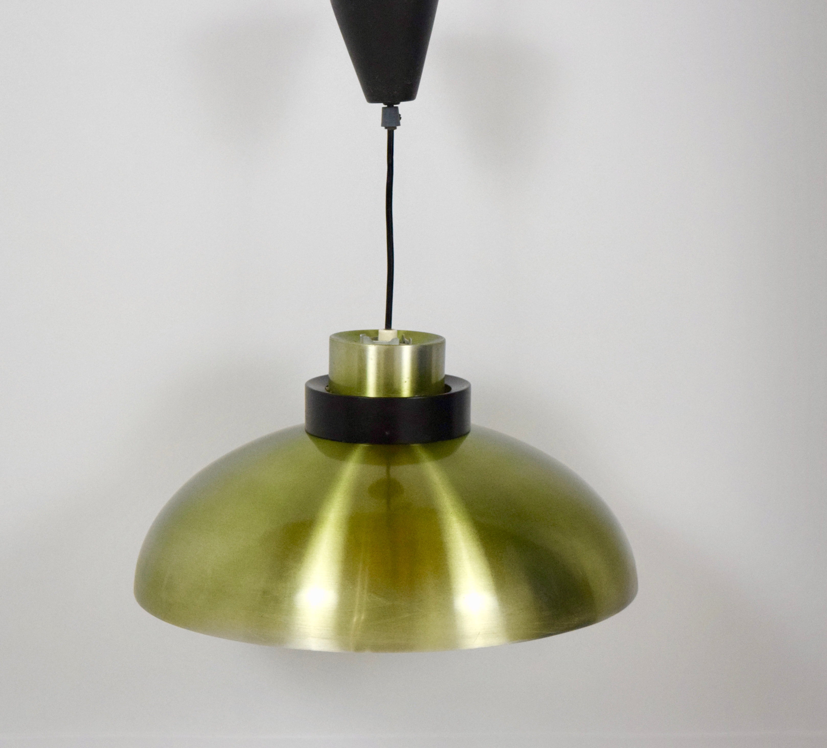 Vintage Green Ceiling Lamp in Danish Style