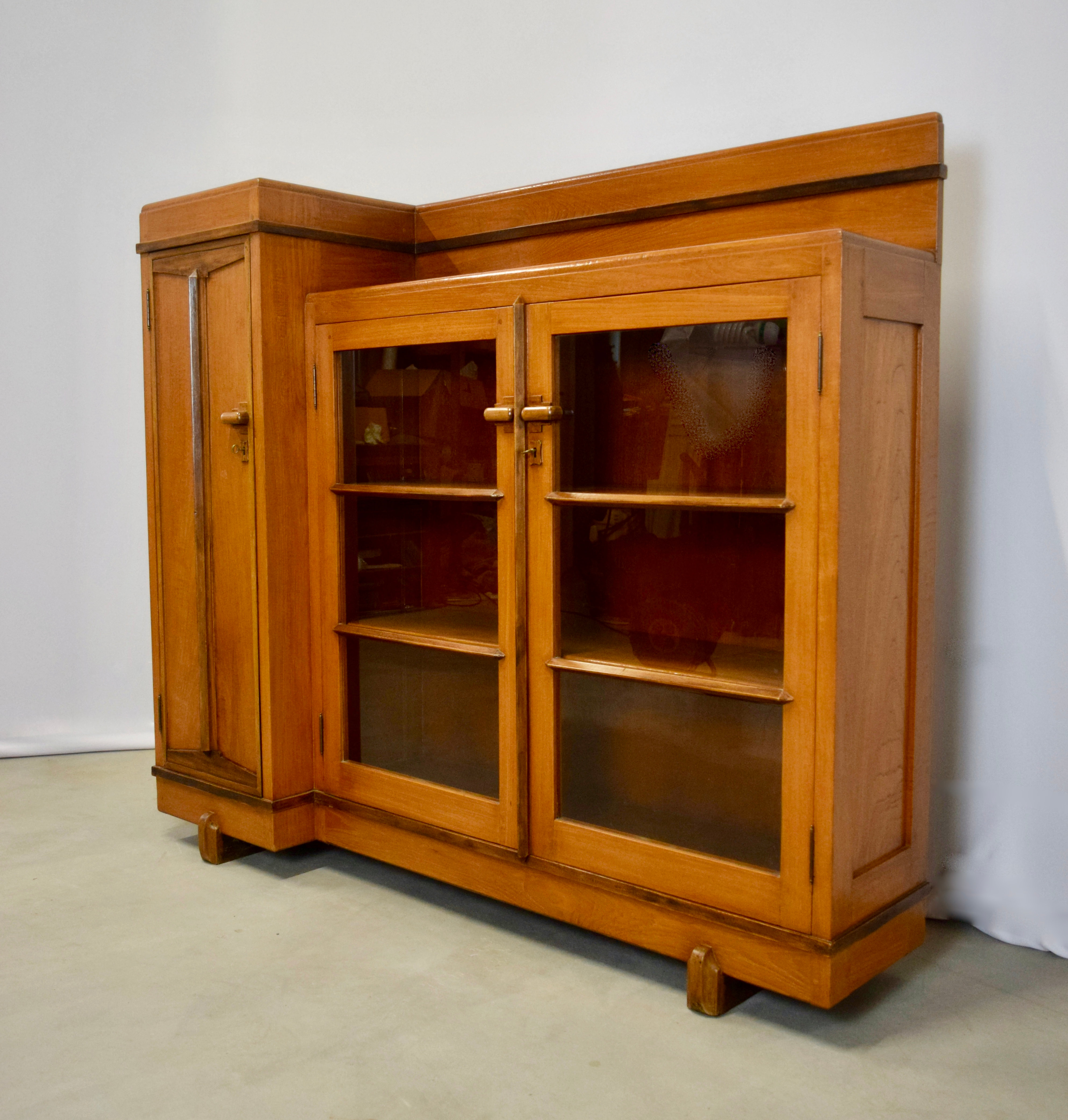 Art Deco Cabinet Teak from Indonesia, 1930's