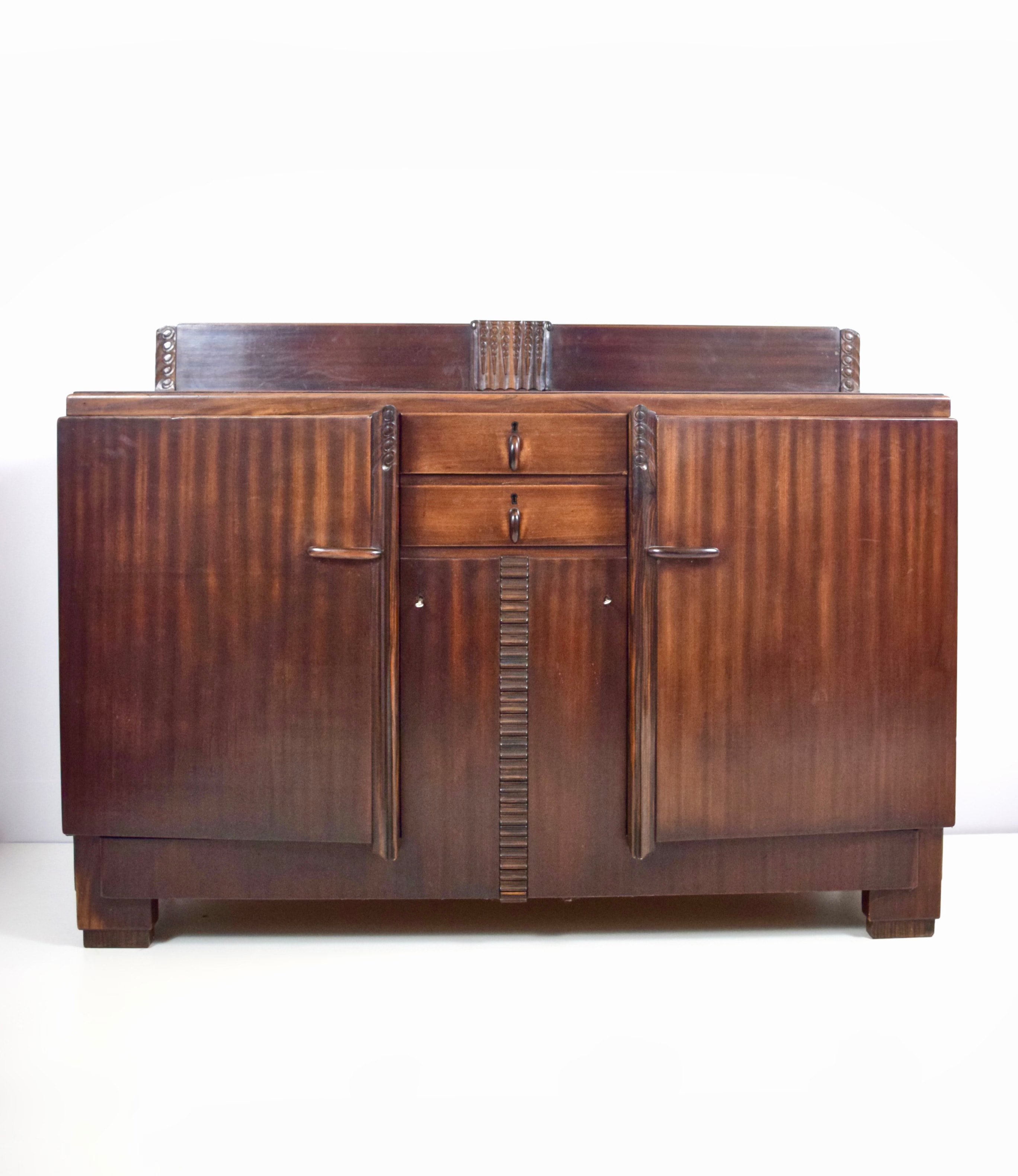 Amsterdam School Cabinet in Mahogany and Coromandel