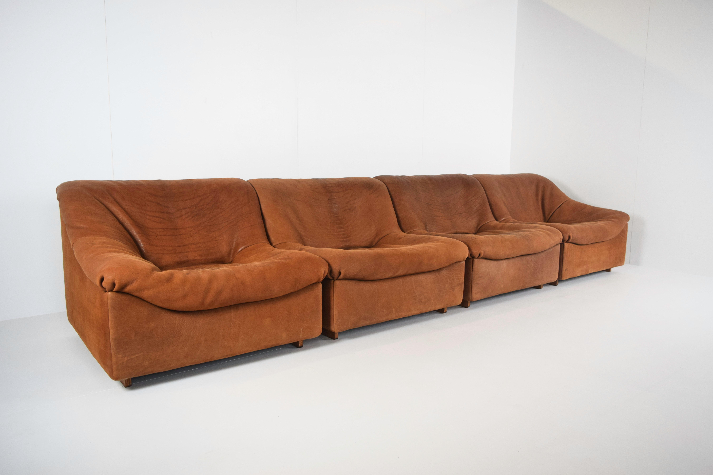 Four Seats DeSede DS46 in Cognac Neck Leather