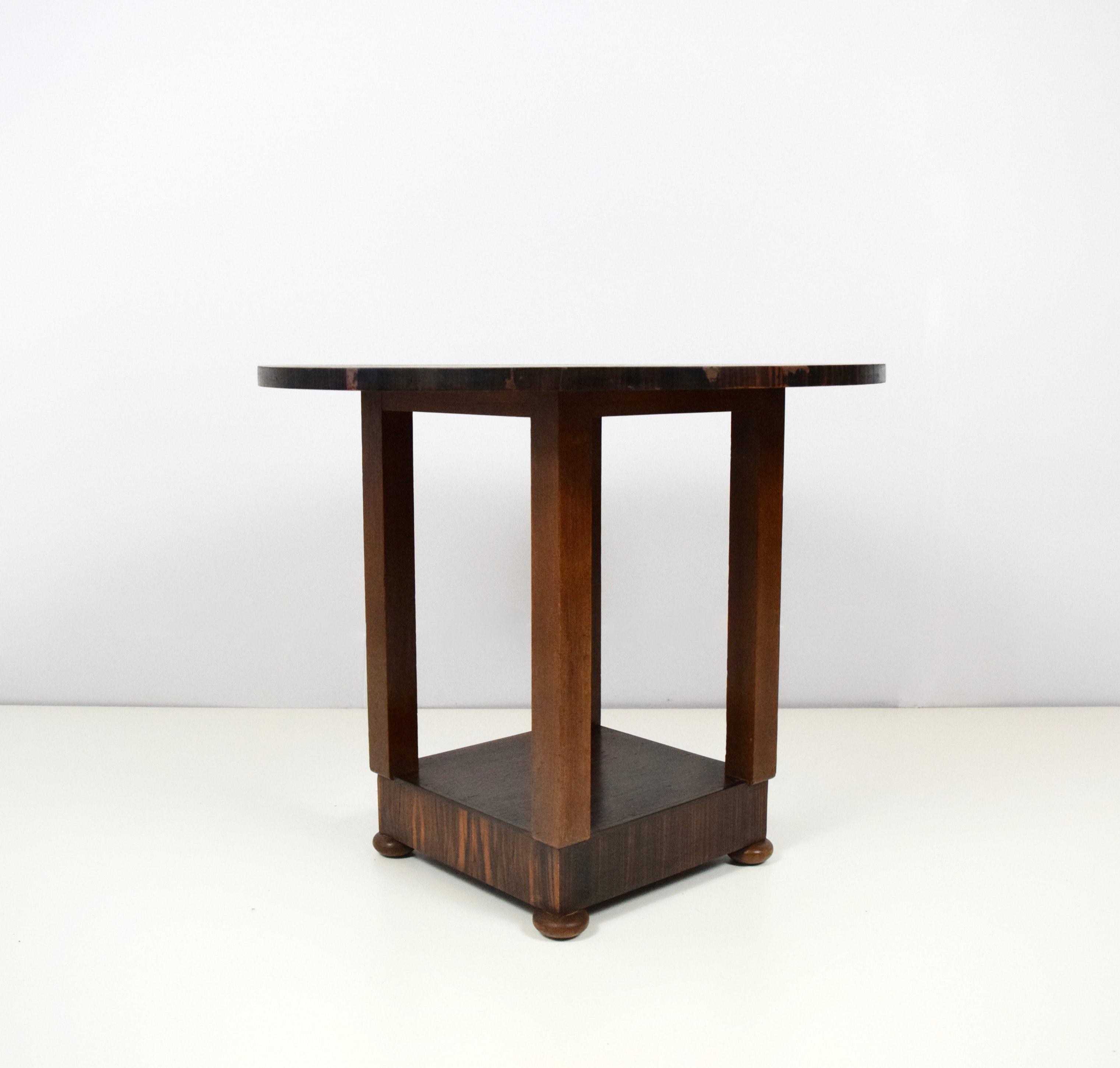 Amsterdam School Side Table, 1930's