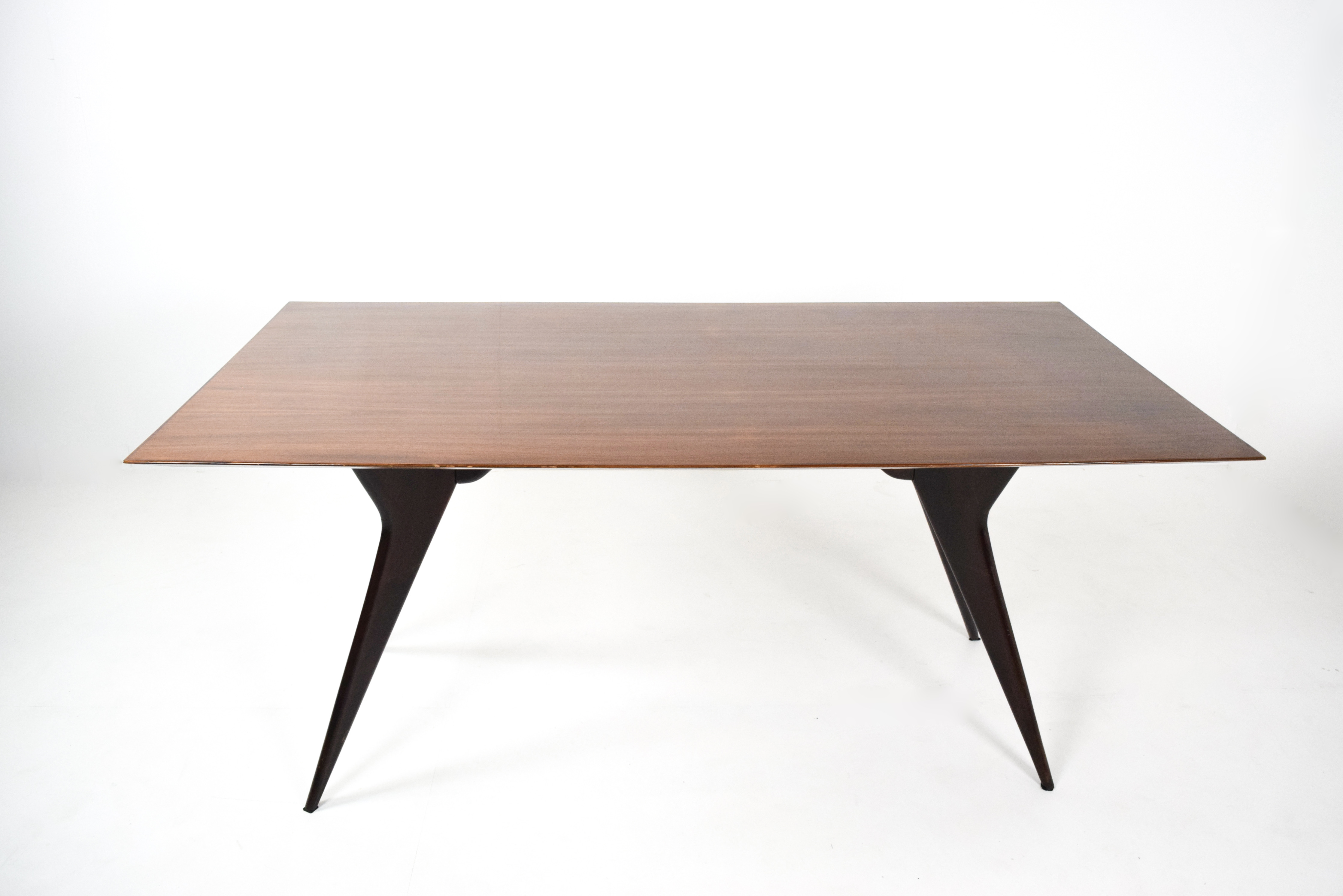 Top view Ico Parisi Table in Rosewood for MIM Roma