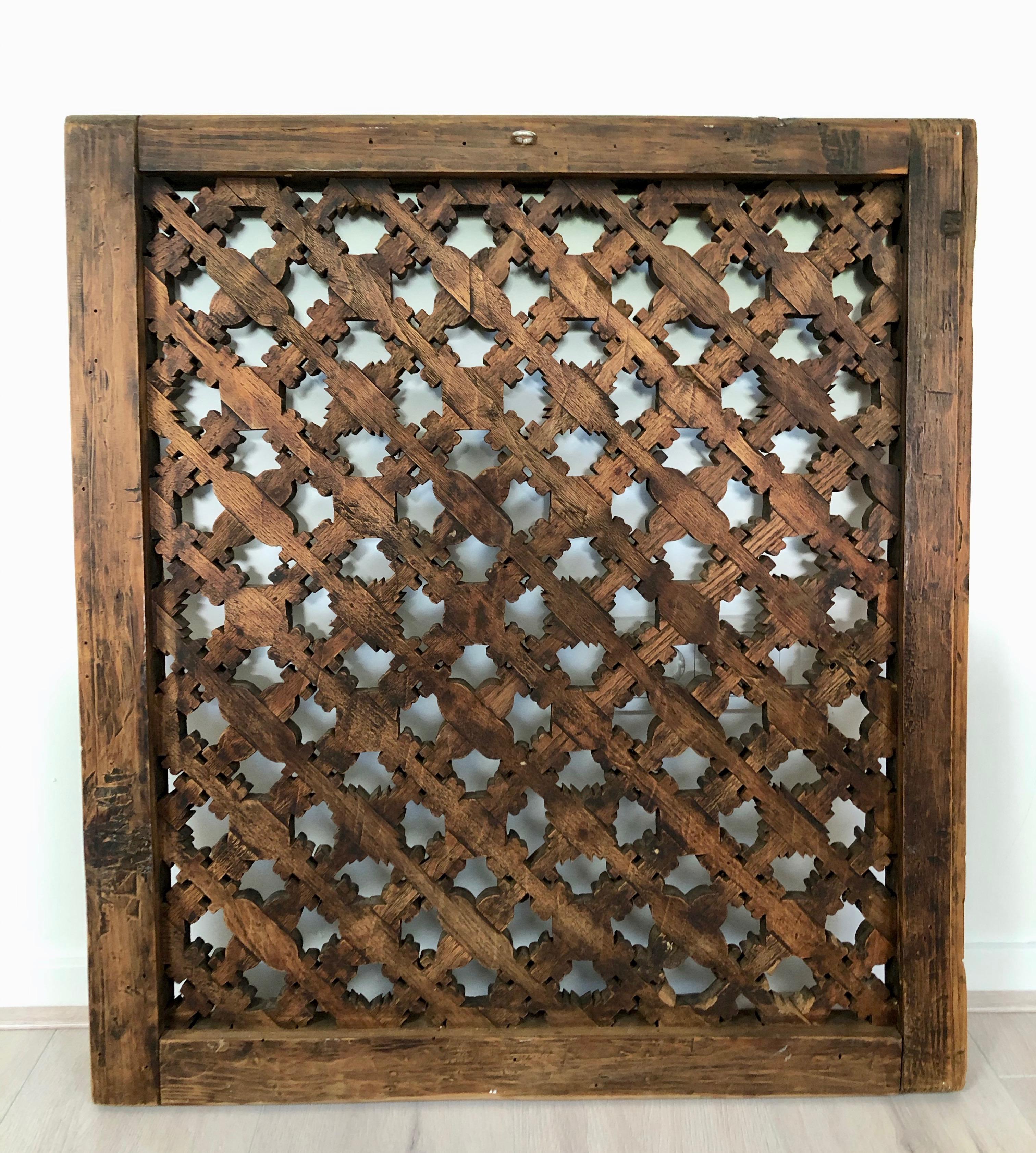 Wood panel Mongolia 150 years old