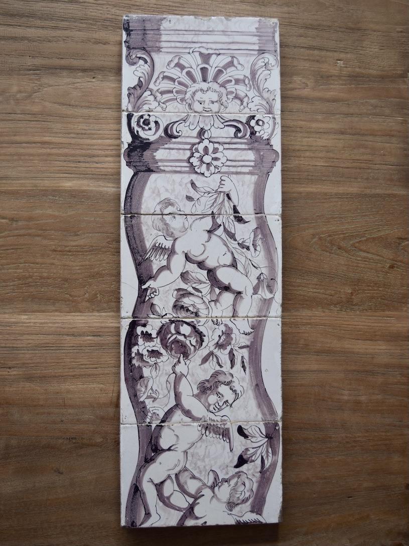 Manganese 17th century tile mural
