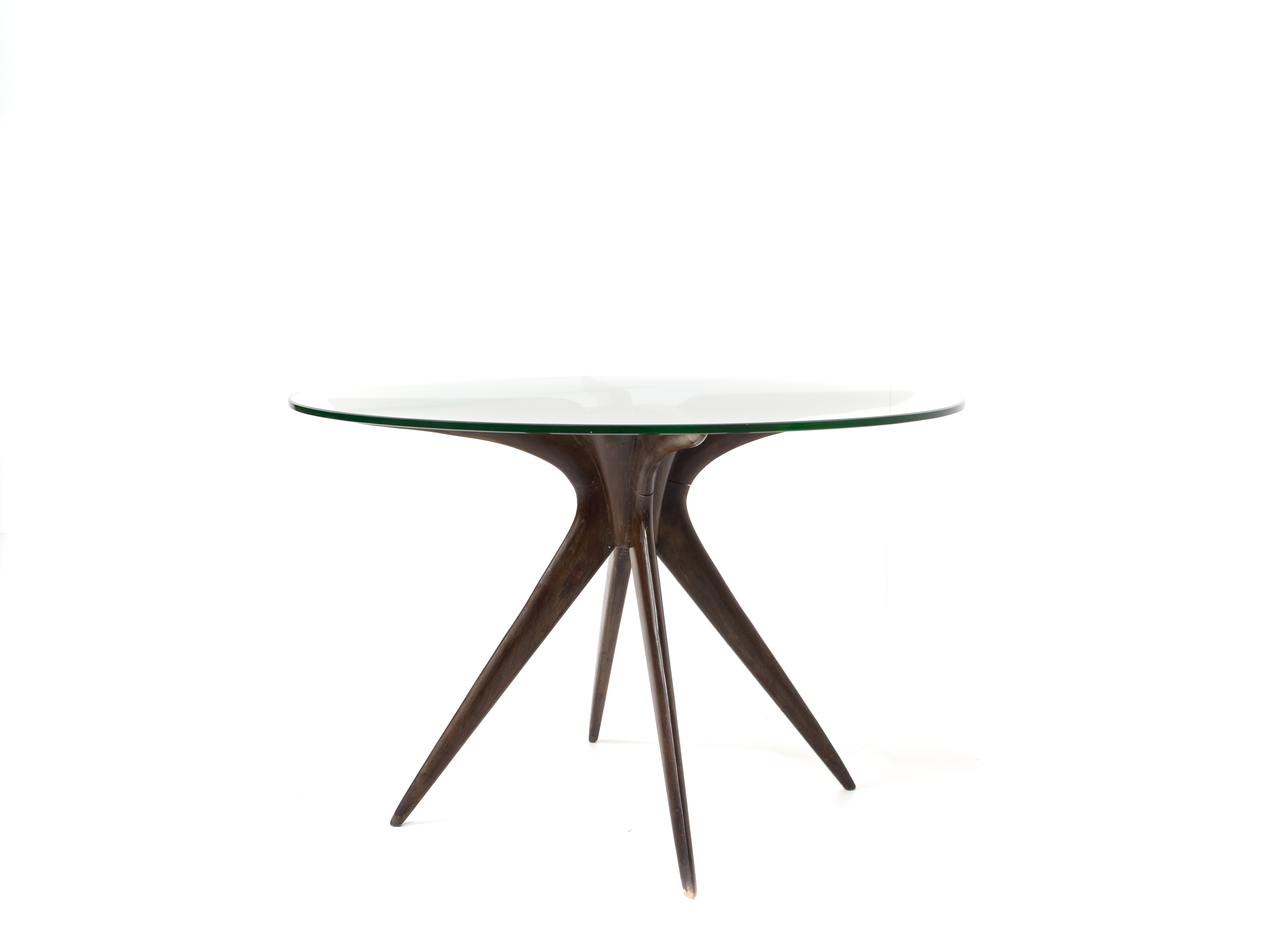 Ico Parisi Coffee Table in Wood and Glass, Italy 1950s