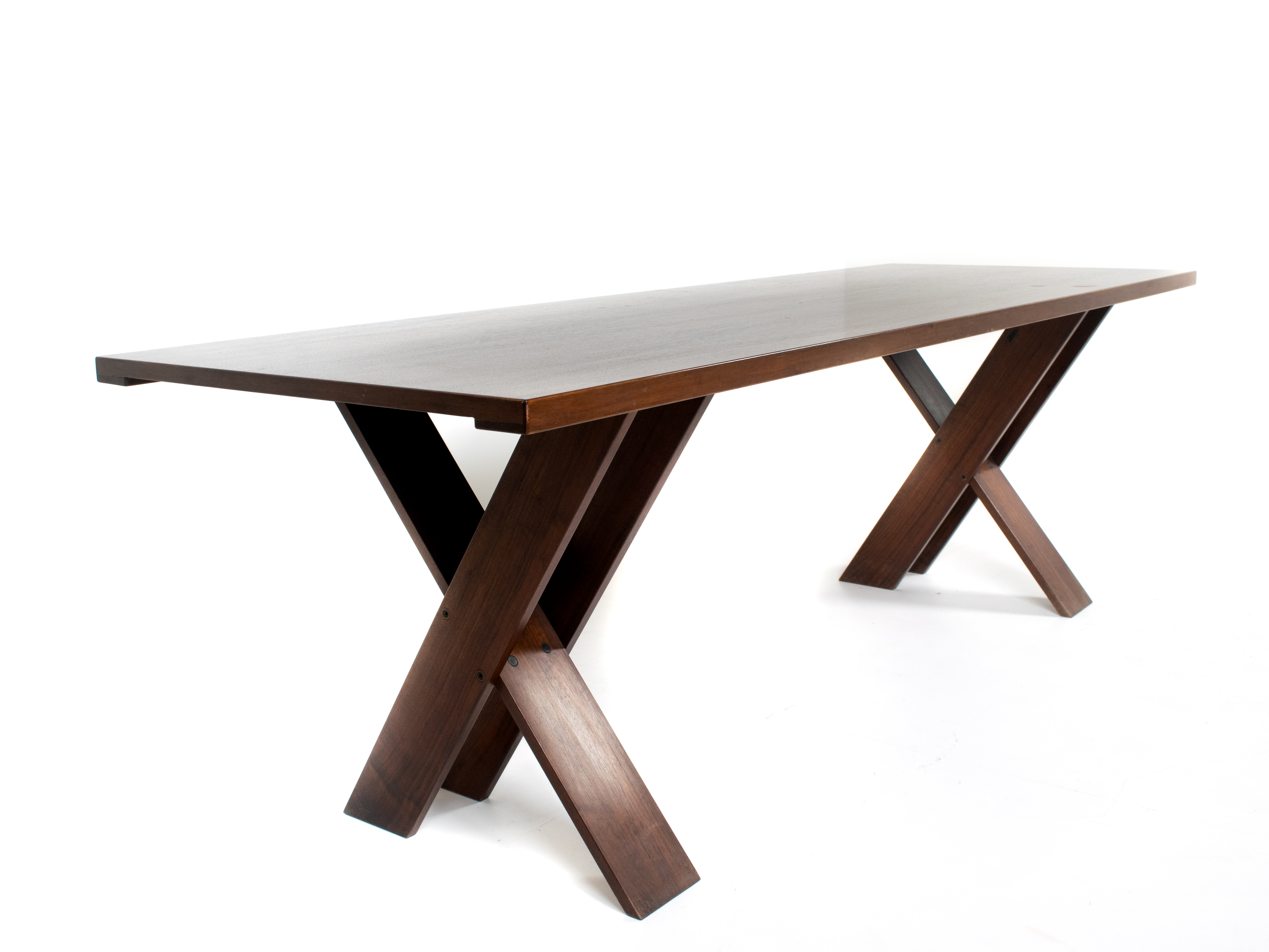 Marco Zanuso Walnut Dining Table TL 58 for Poggi, Italy 1970s