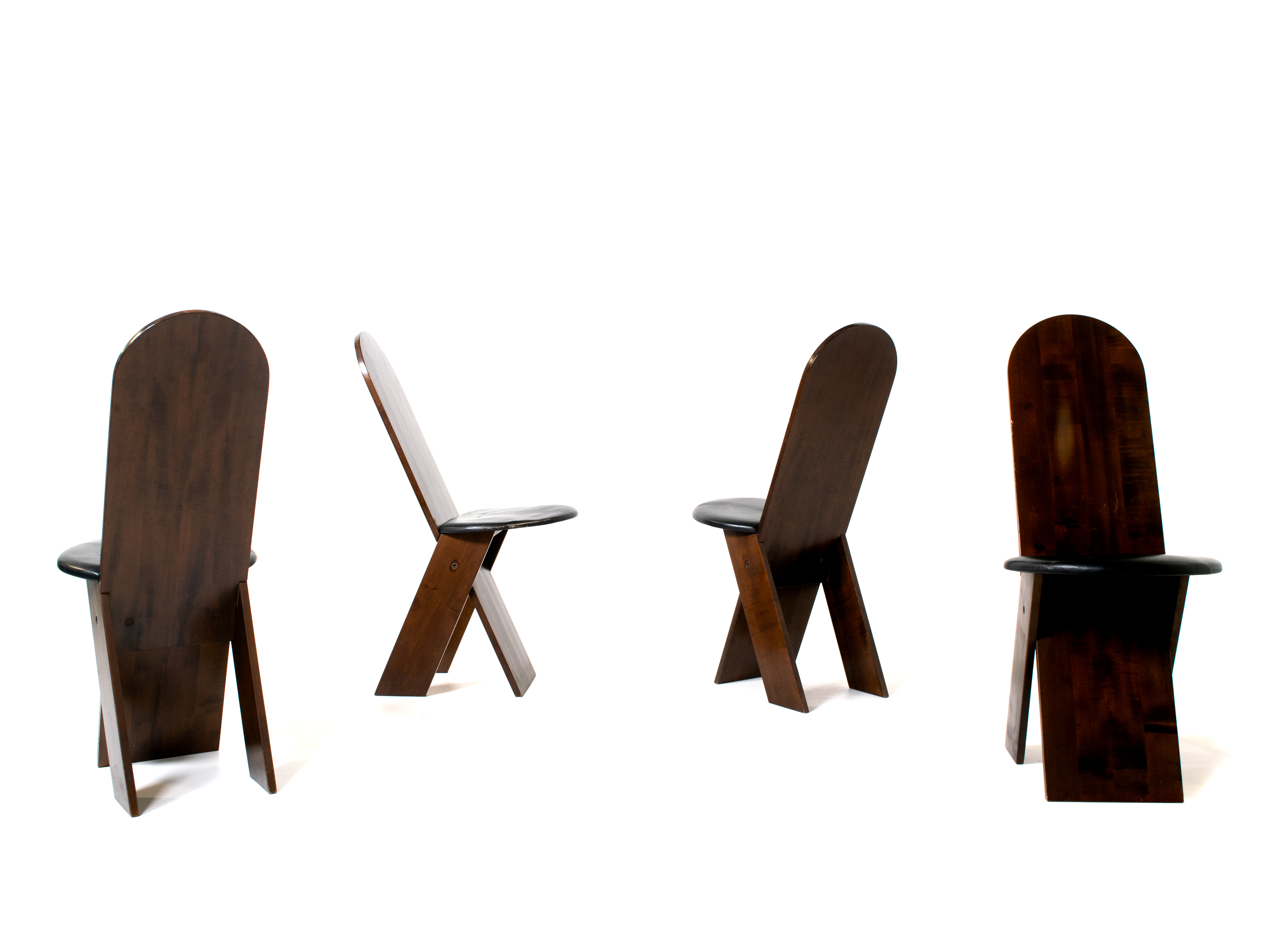 Marco Zanuso Dining Chairs for Poggi, Italy 1970s