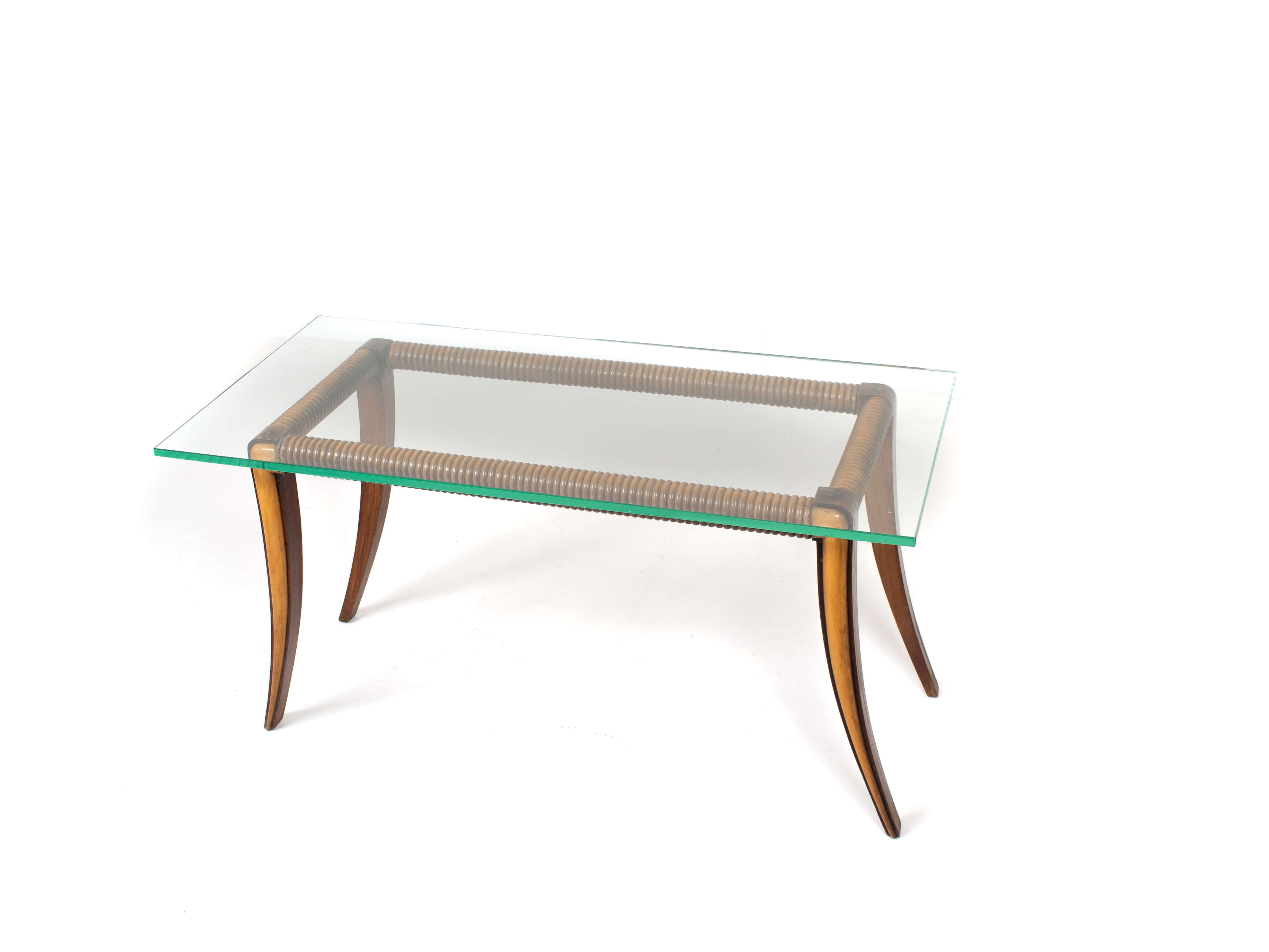 Top view Maple and Wood Coffee Table by Osvaldo Borsani