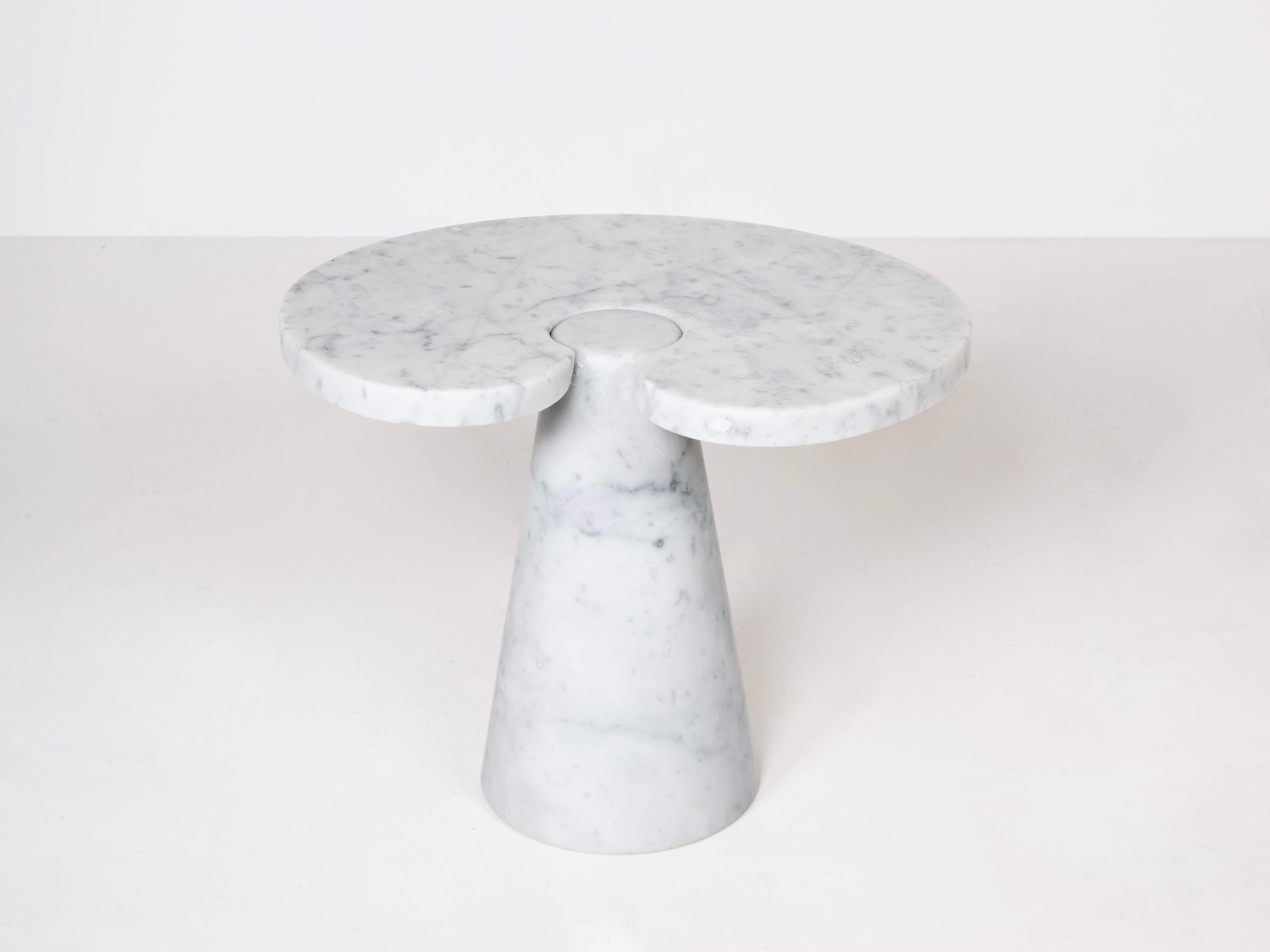 Marble Side Table in Angelo Mangiarotti Style, Italy 1970s