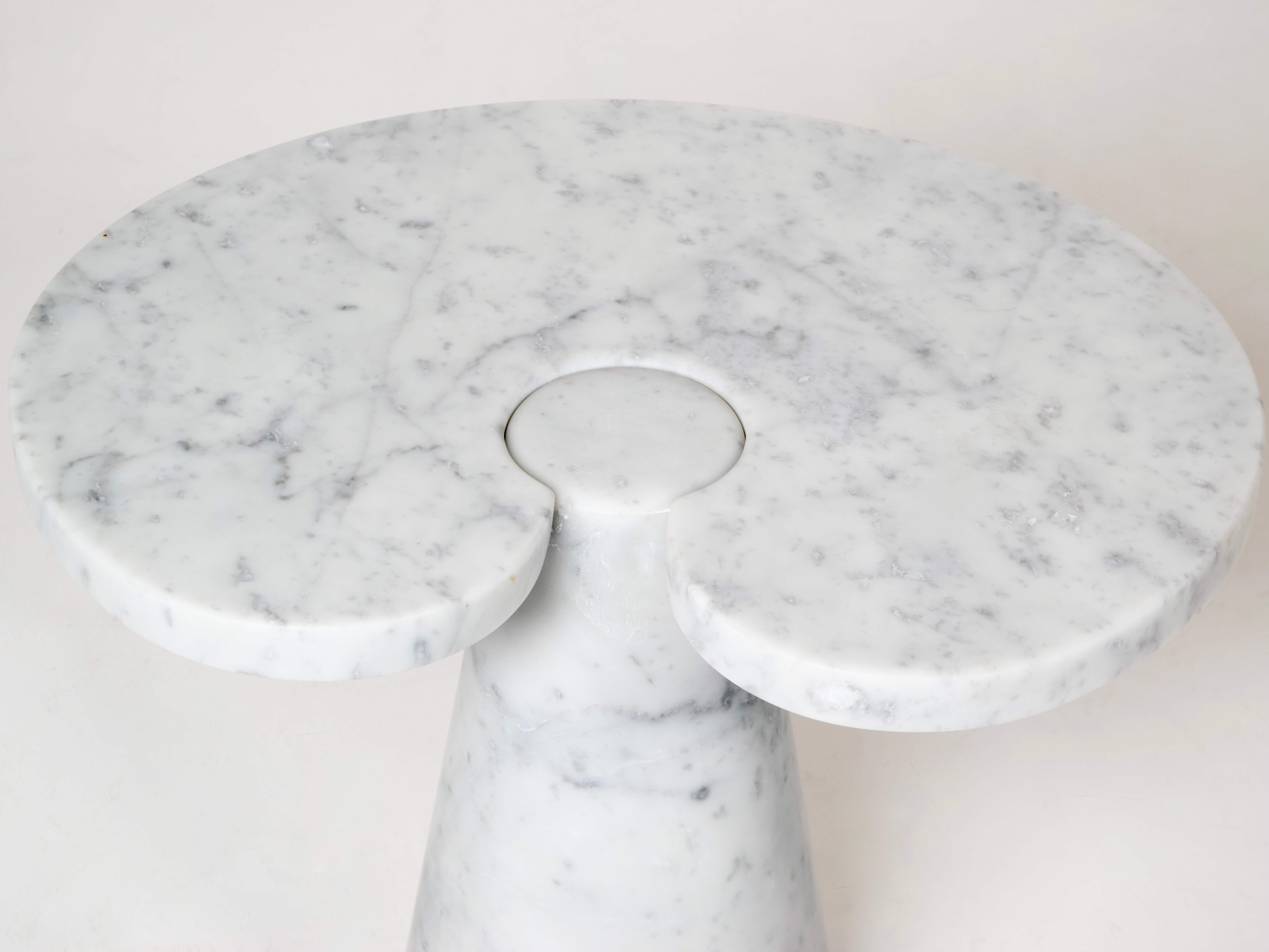 TOp Marble Side Table in Angelo Mangiarotti Style, Italy 1970s