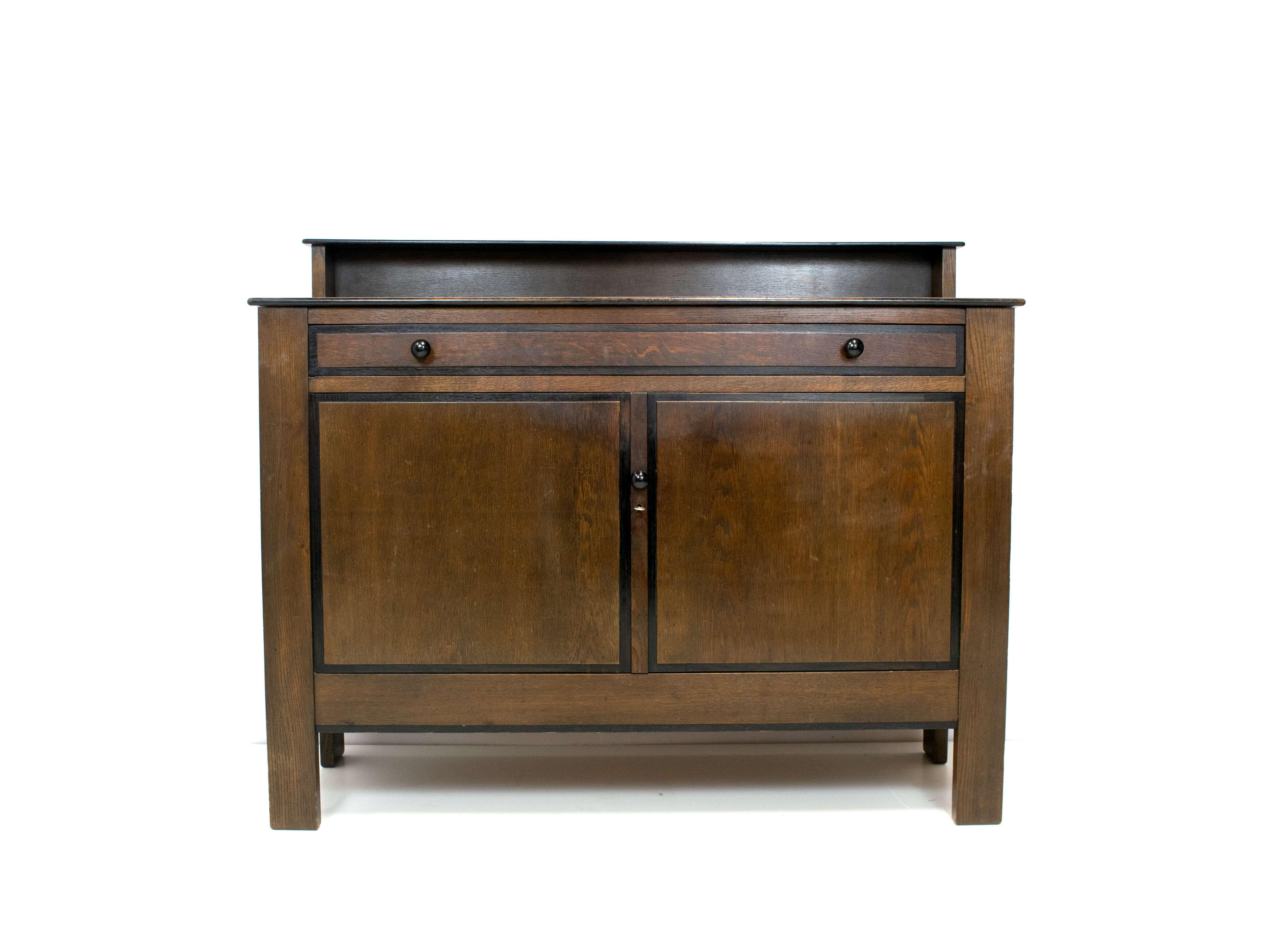 Art Deco Oak Cabinet by Muntendam for L.O.V. Oosterbeek, Netherlands 1924