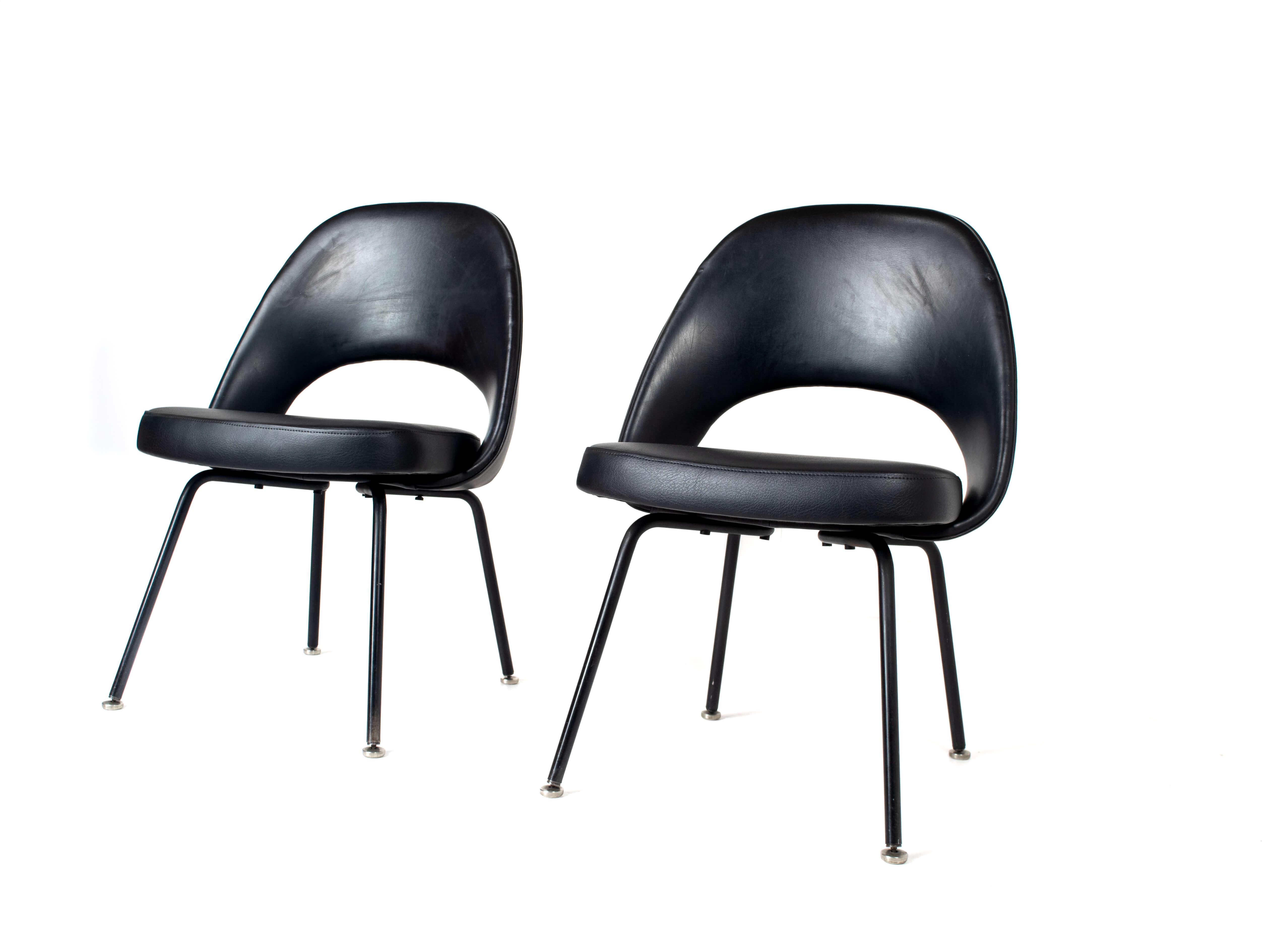 Set of Two Eero Saarinen Executive Chairs for Knoll De Coene, Belgium 1950s