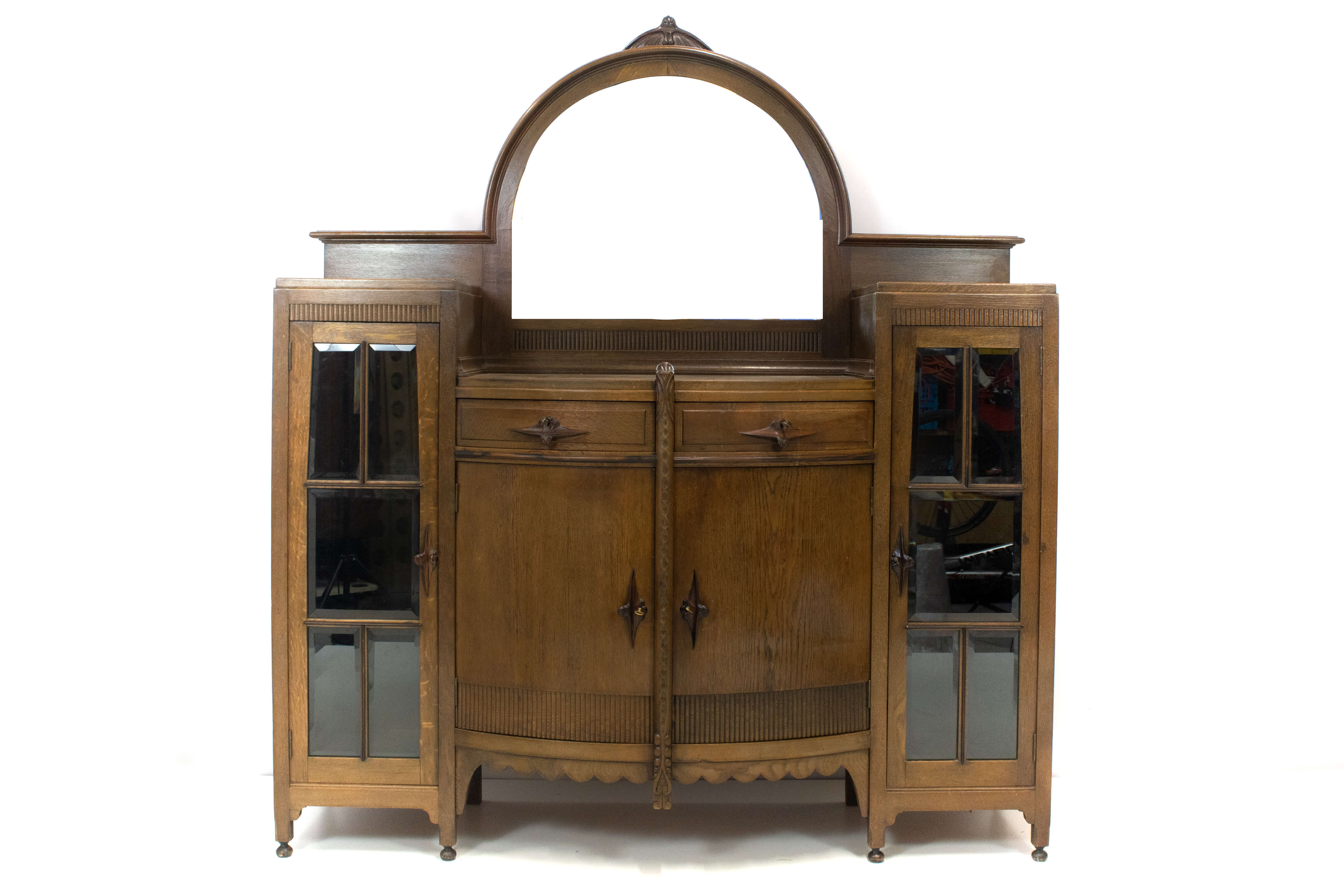 Art Deco Amsterdam School Bar Cabinet by J.Th. Drilling, The Netherlands 1920s