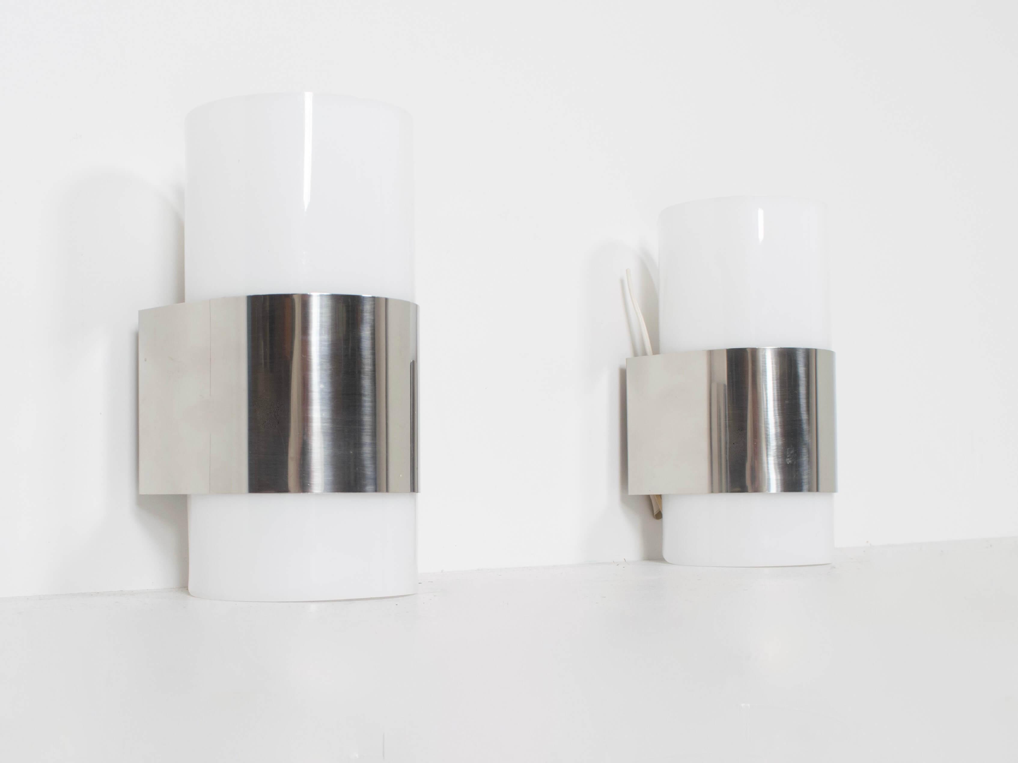 Set of Two Metracrilato Wall Lights from Metalarte, 1980s Spain