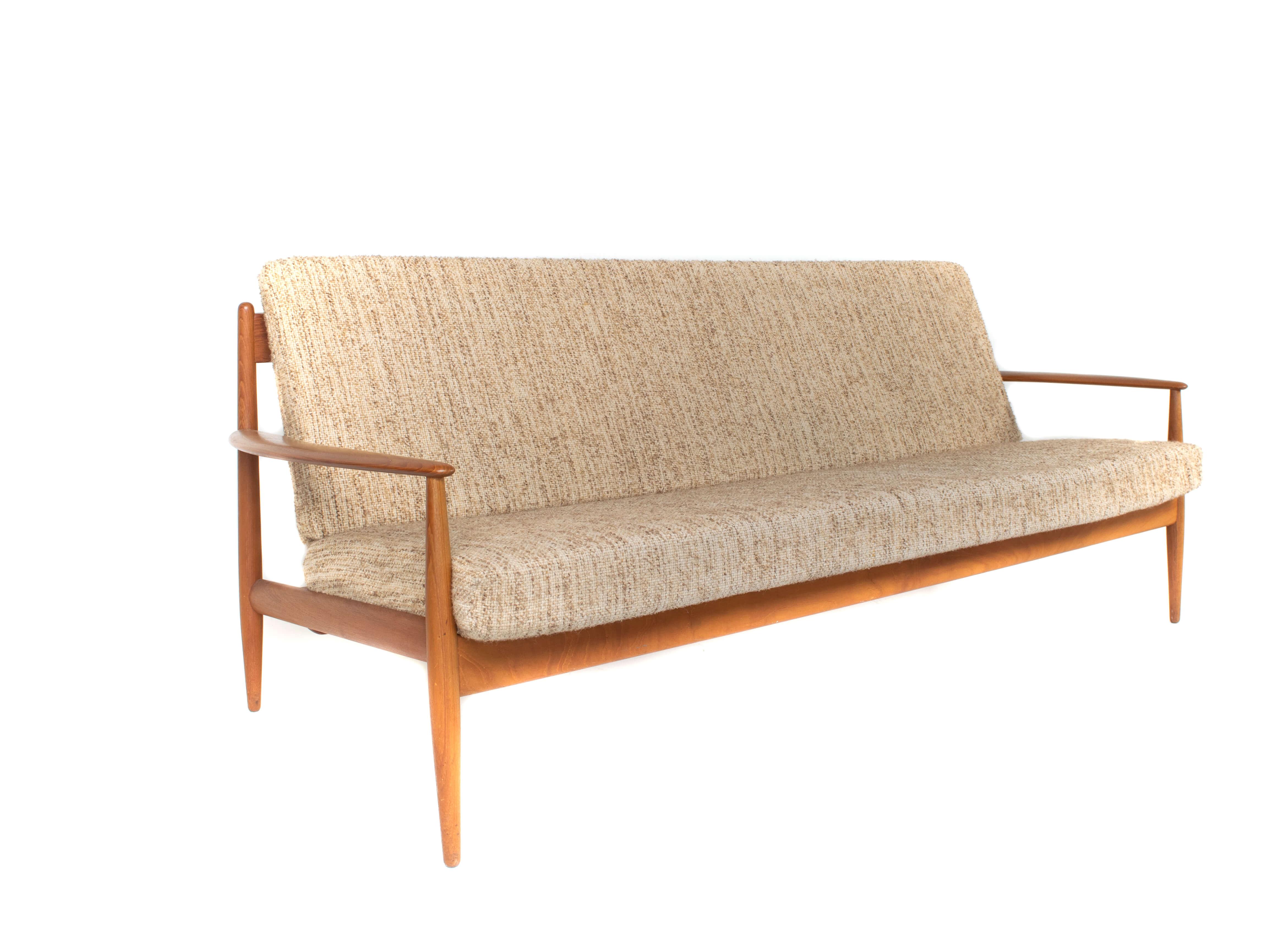 Grete Jalk Three-Seat Sofa for France & Søn, Denmark 1960s