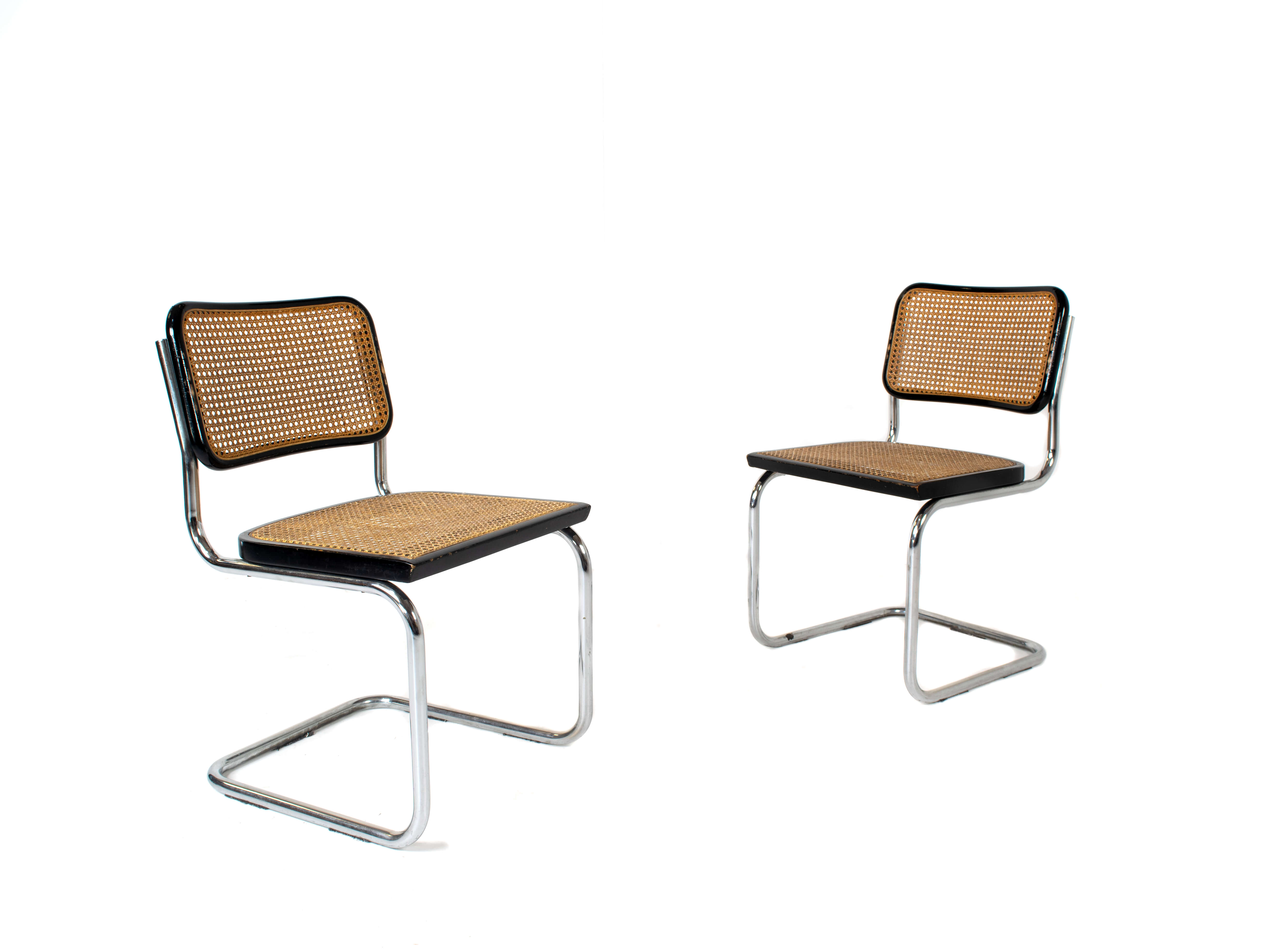 Set of Marcel Breuer Cesca Dining Room Chairs B32 for Gavina