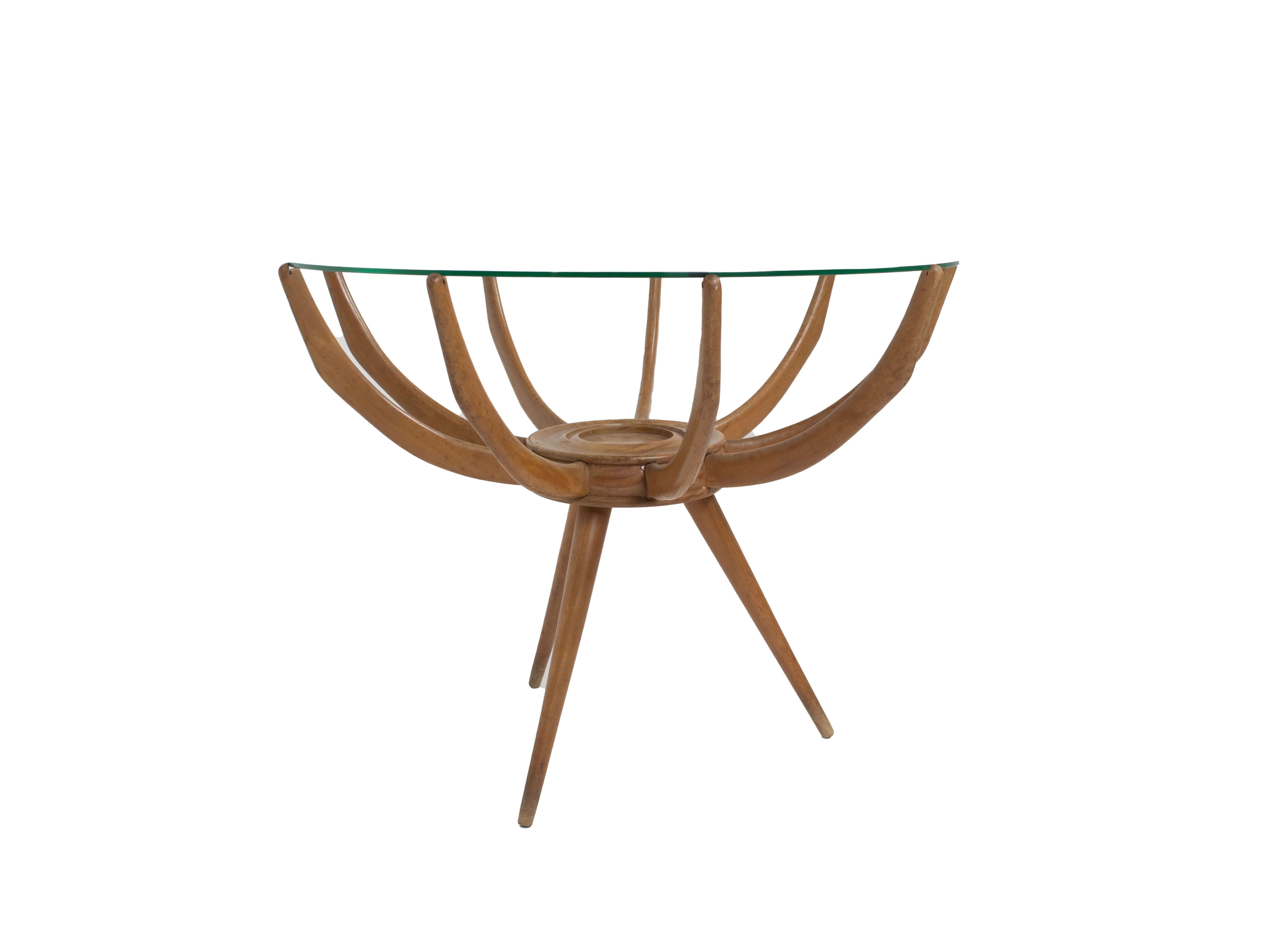Spider Leg Coffee Table by Carlo di Carli, Italy 1950s