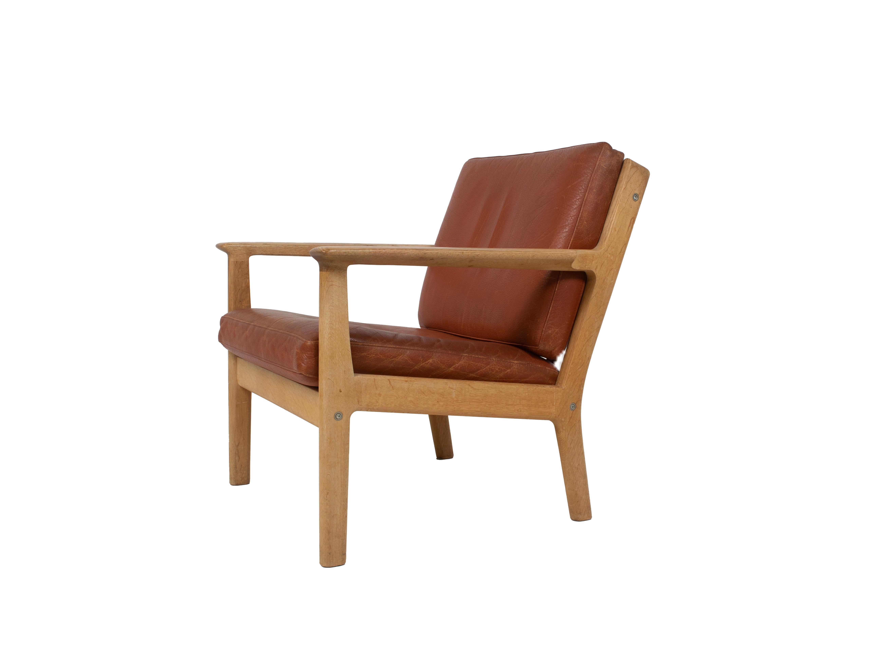 Hans Wegner Arm Chair by Getama Model 265 in Oak and Leather, 1987