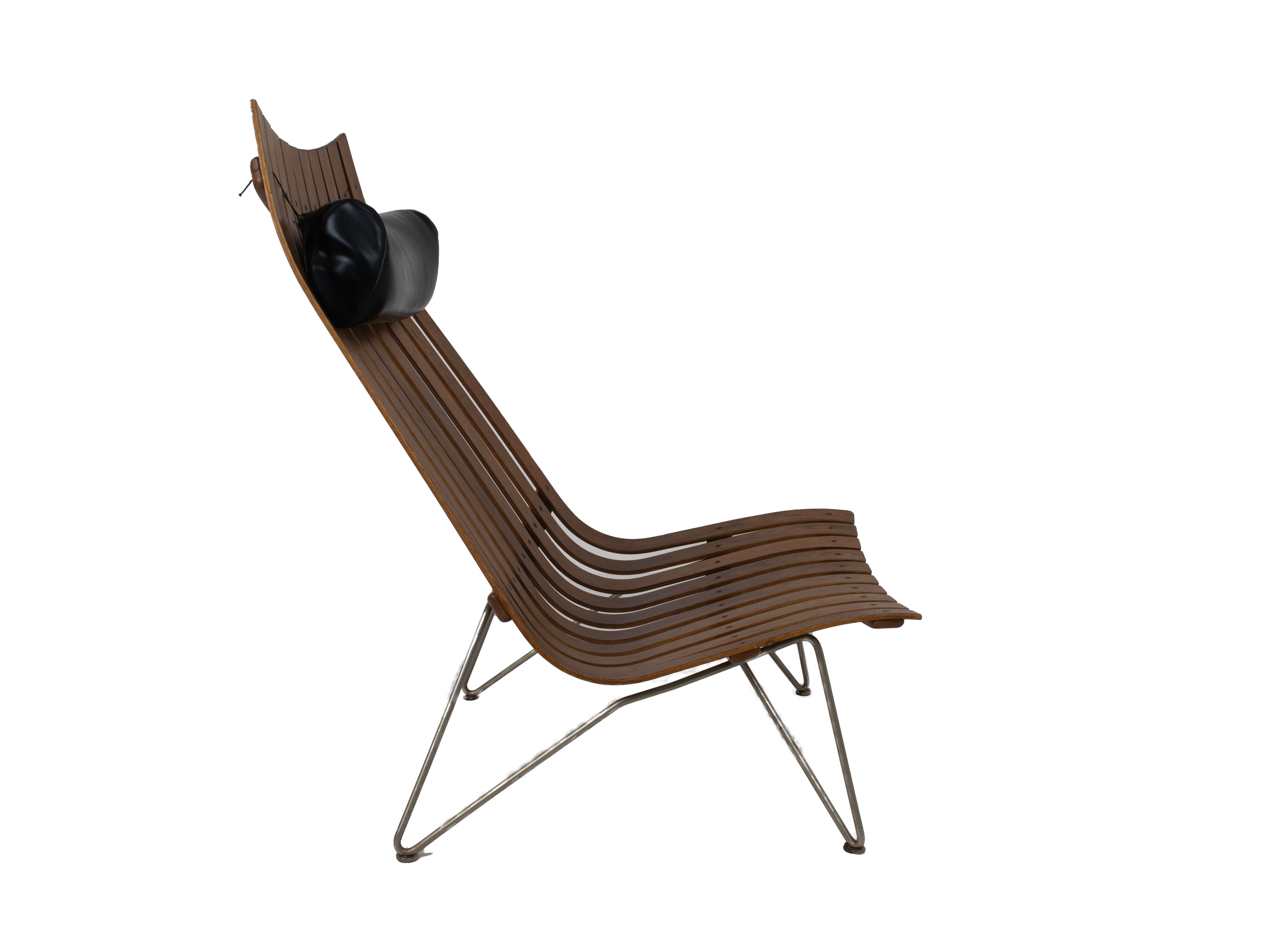 Side view Lounge Chair by Hans Brattrud Model Scandia for Hove Møbler, Norway 1960s
