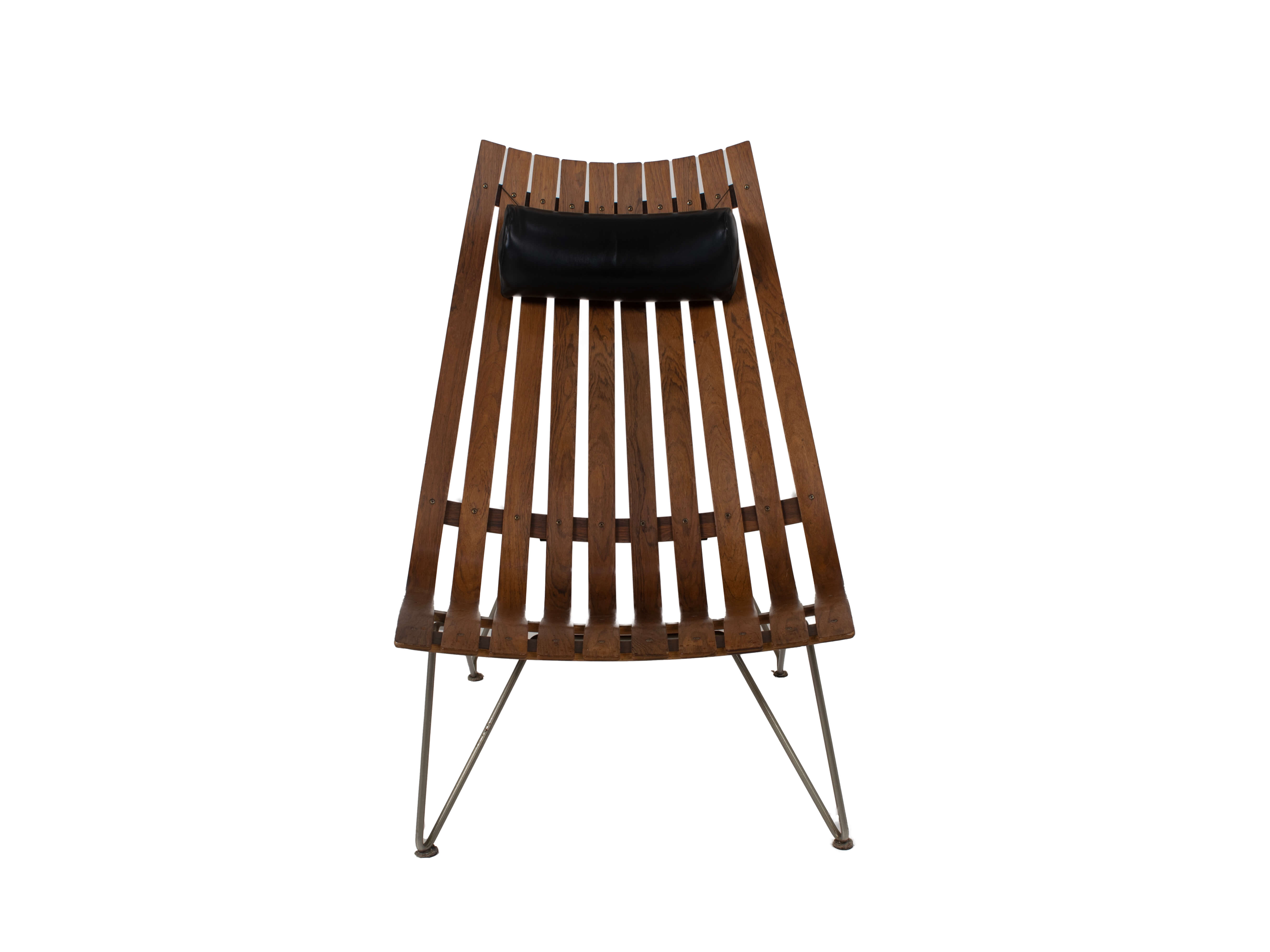 Front view Lounge Chair by Hans Brattrud Model Scandia for Hove Møbler, Norway 1960s