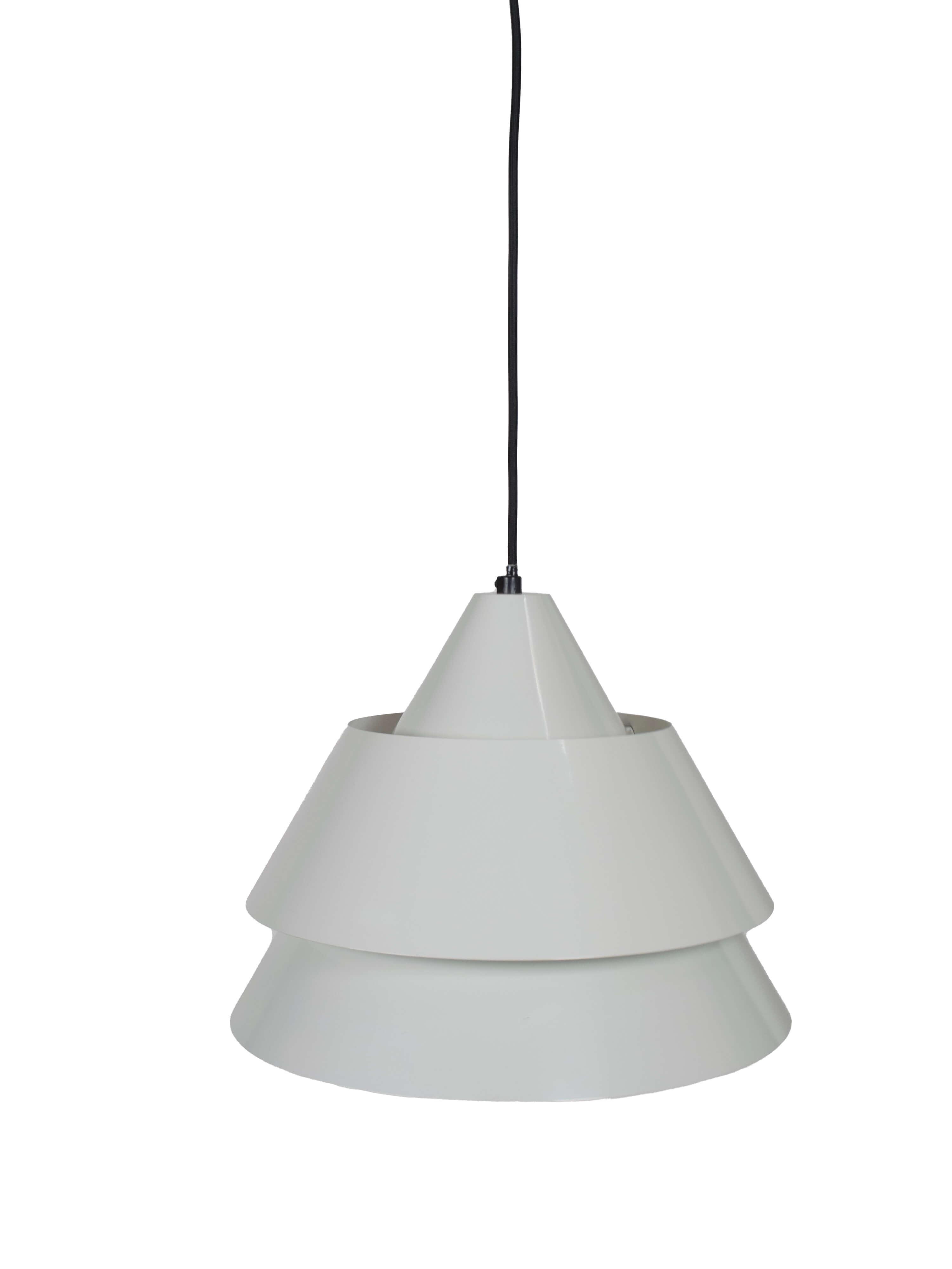White Lacquered Pendant Lamp 'Zone' by Jo Hammerborg, Denmark 1969