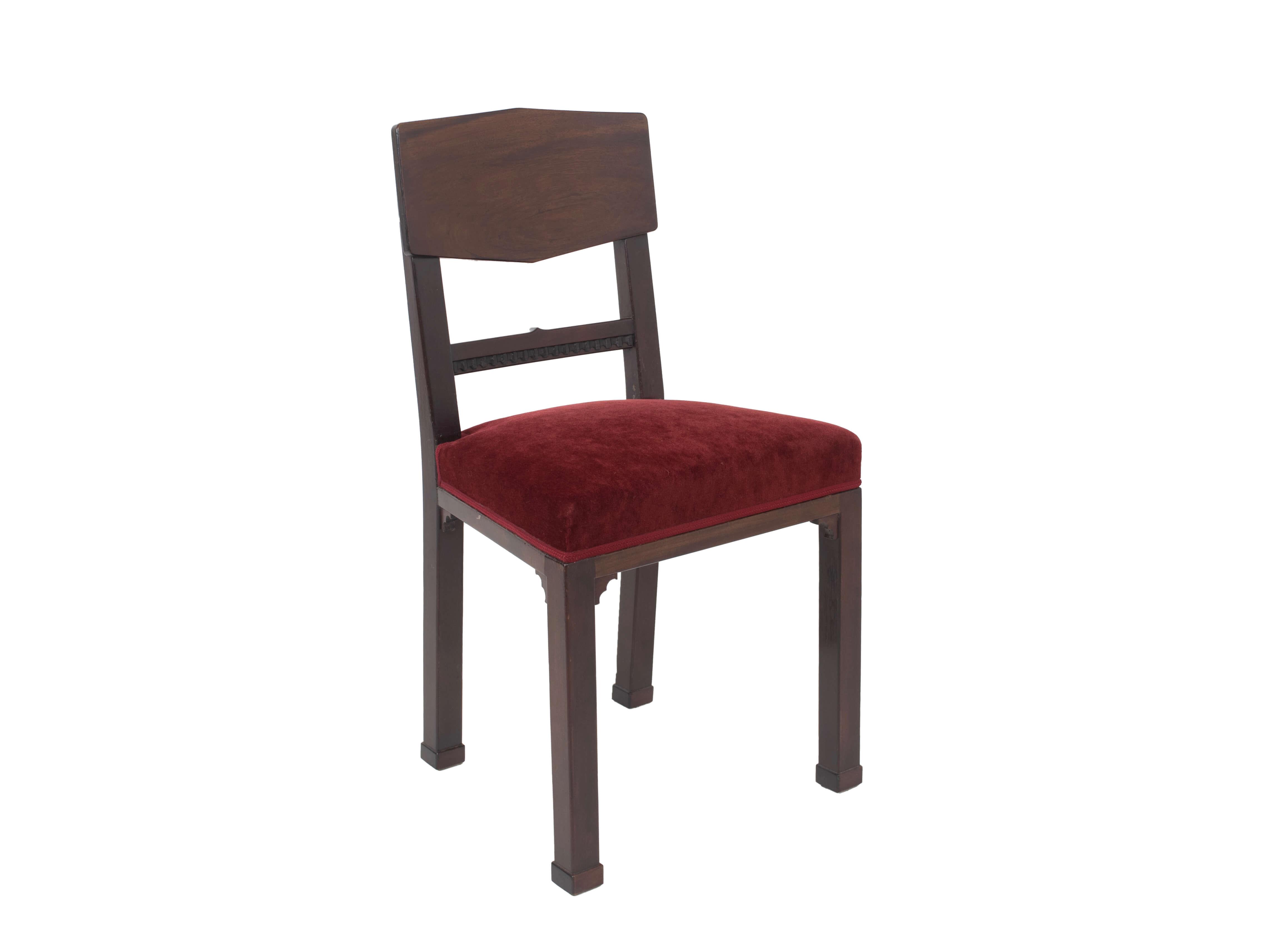 Amsterdam School Chair in Mahogany